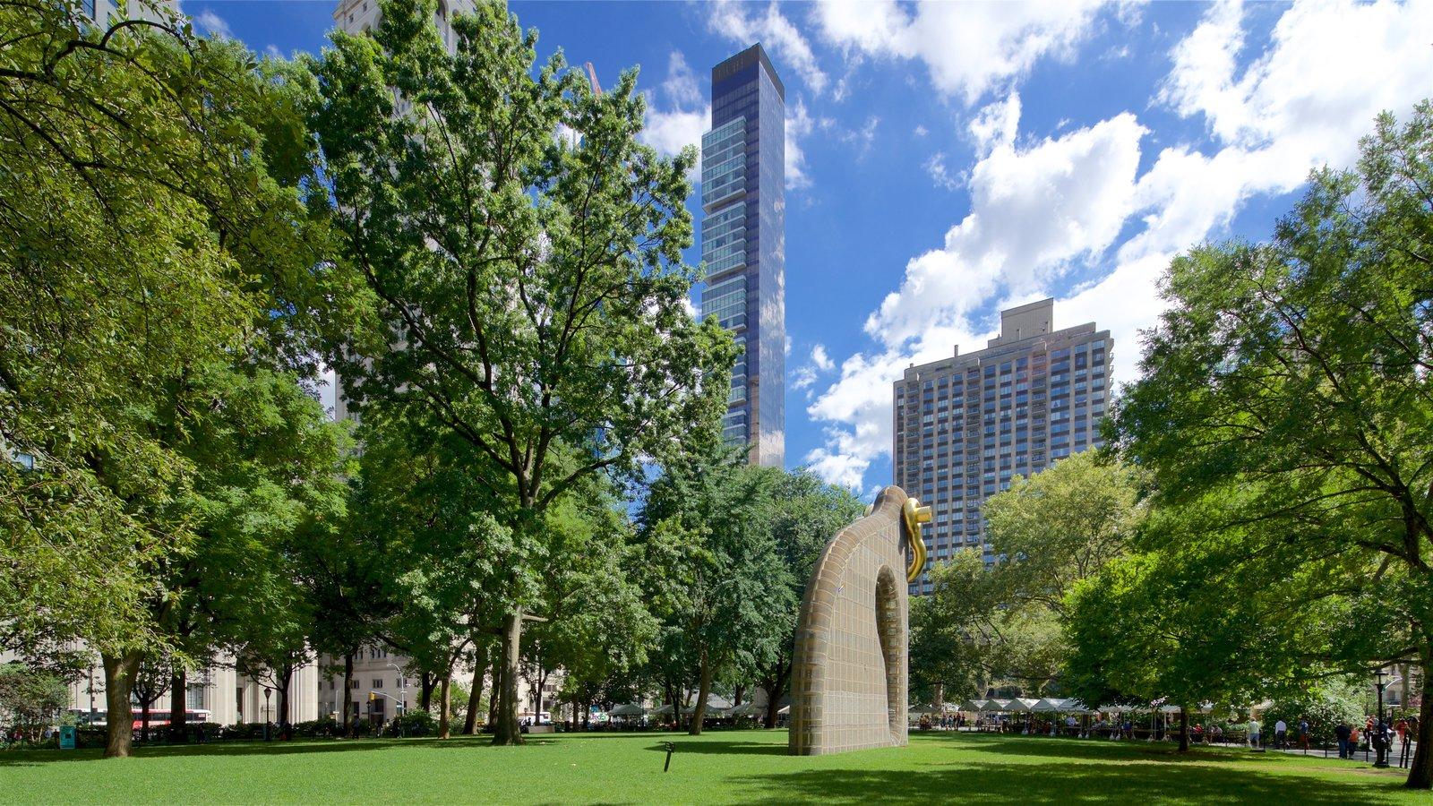 Madison Square Park mostrando um parque e arte ao ar livre