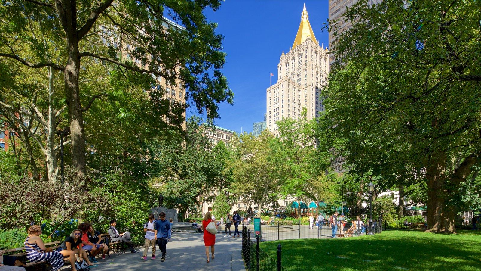 Madison Square Park que inclui uma cidade e um parque