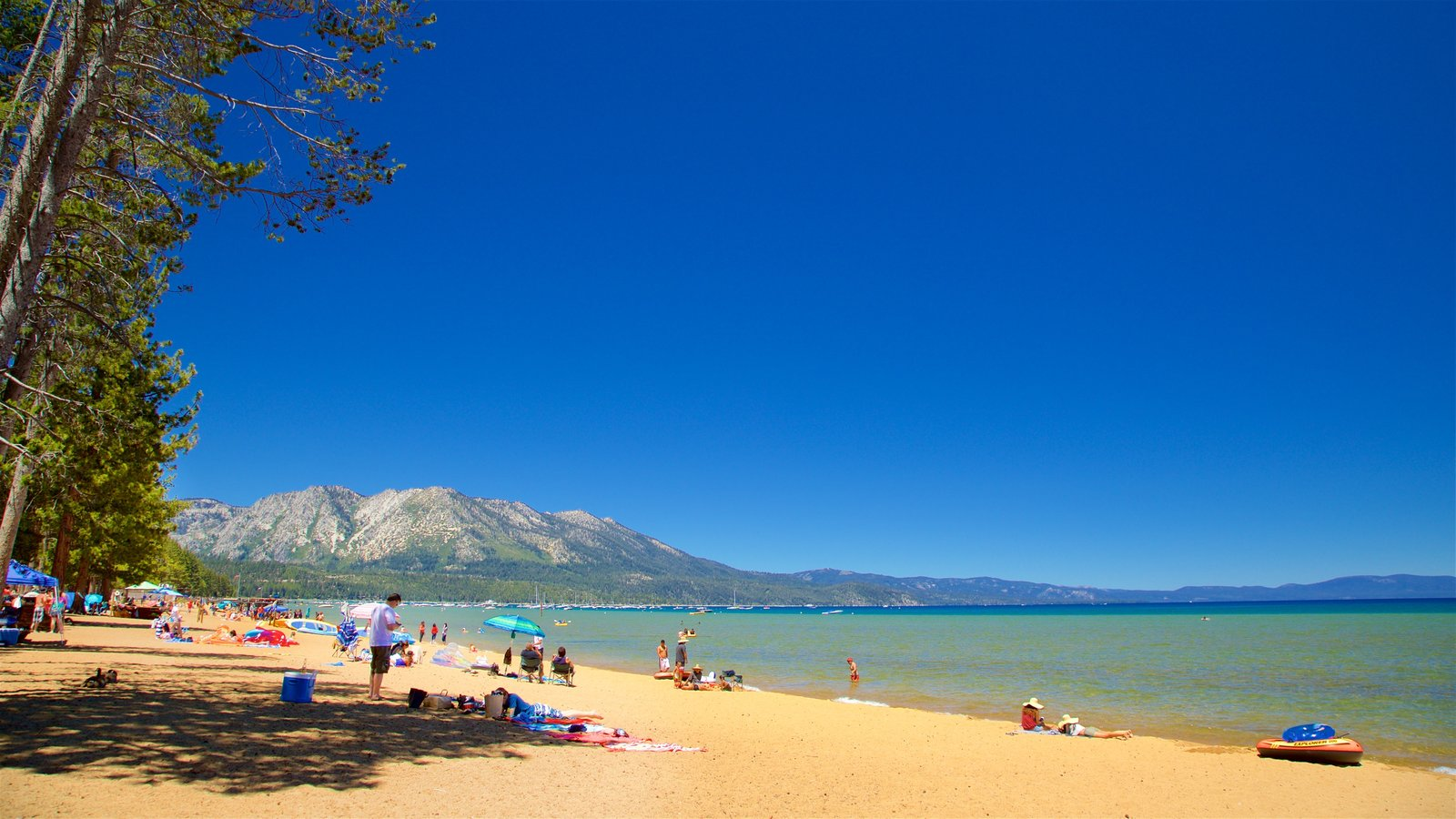 Pope Beach Featuring Mountains A Lake Or Waterhole And