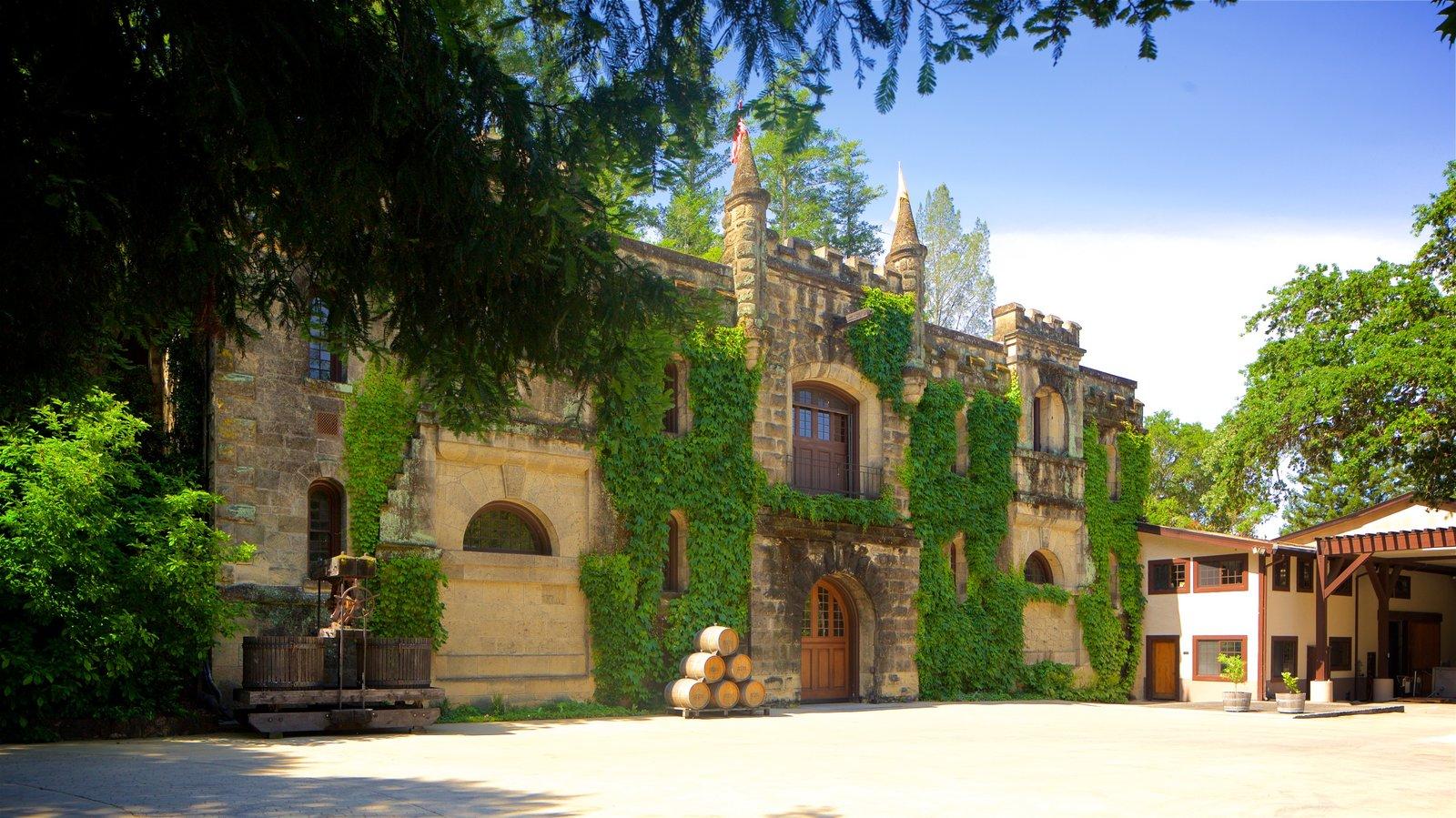 Chateau Montelena Winery mostrando elementos del patrimonio