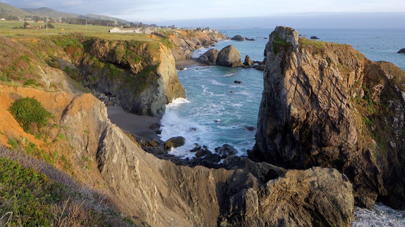 Sonoma Valley which includes general coastal views and rocky coastline