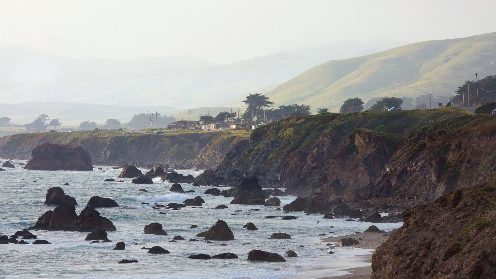 Sonoma Valley which includes rocky coastline, tranquil scenes and general coastal views