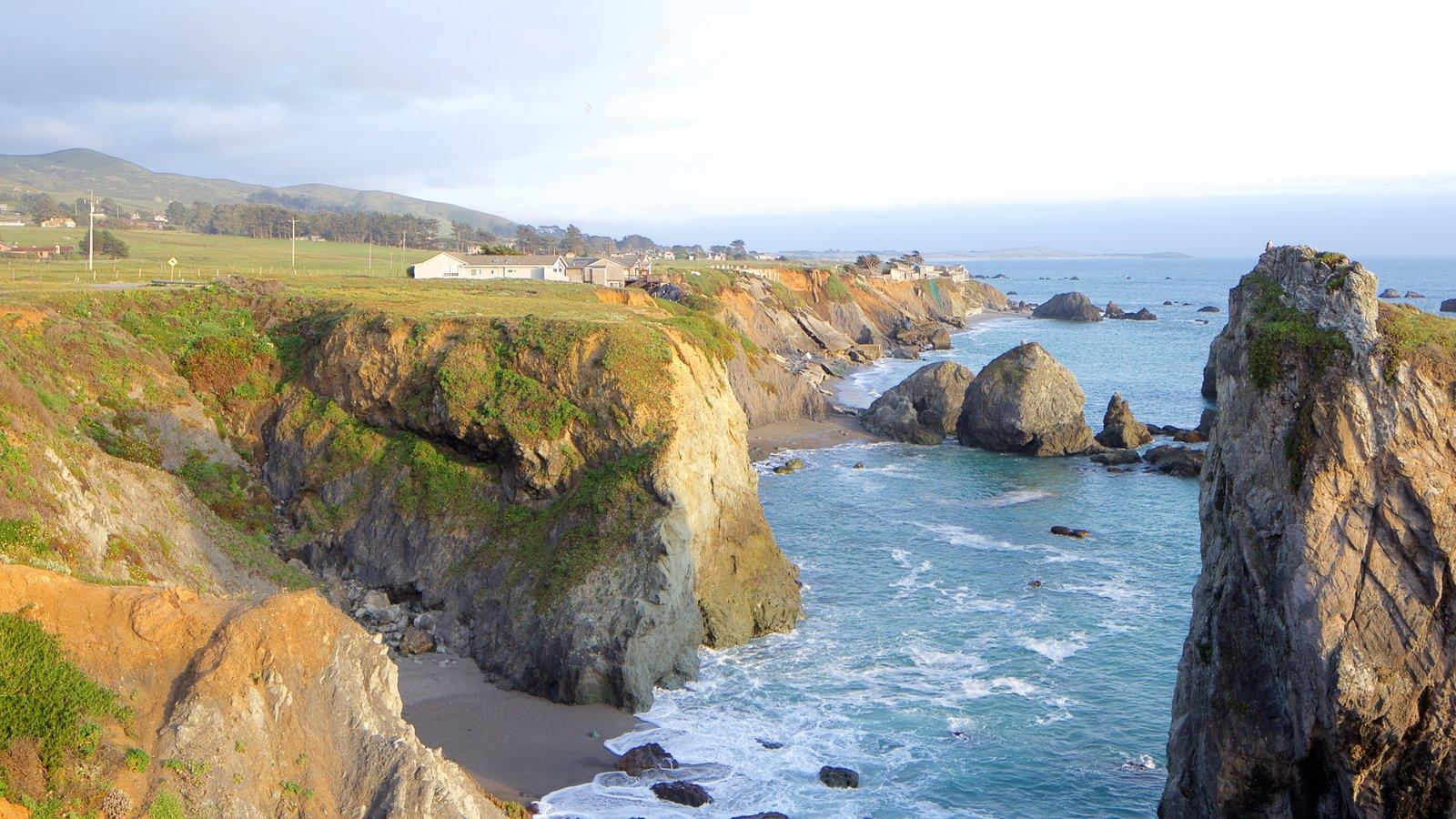 Sonoma Valley featuring tranquil scenes, rocky coastline and general coastal views
