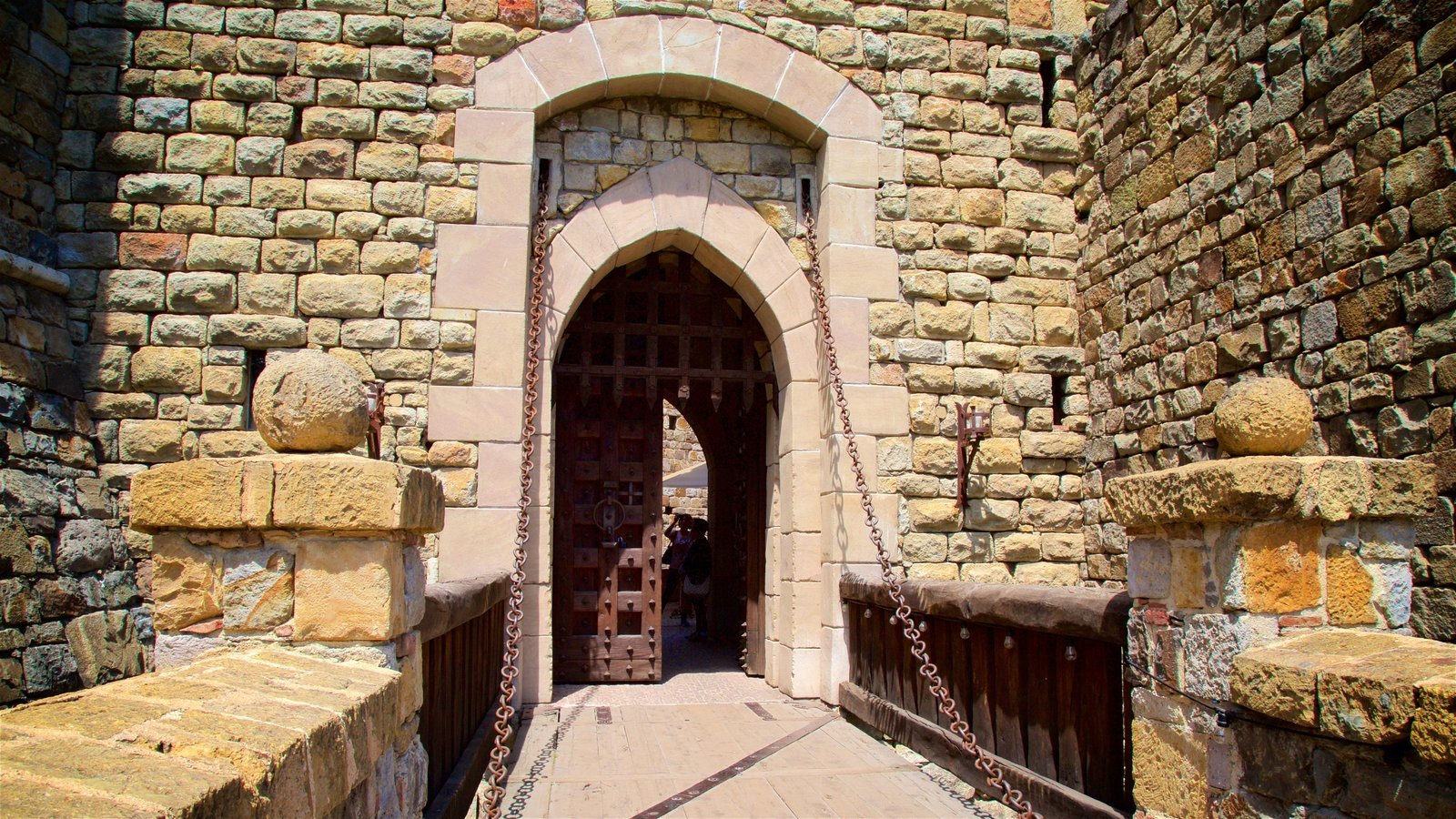 Castello di Amorosa which includes a castle and heritage elements
