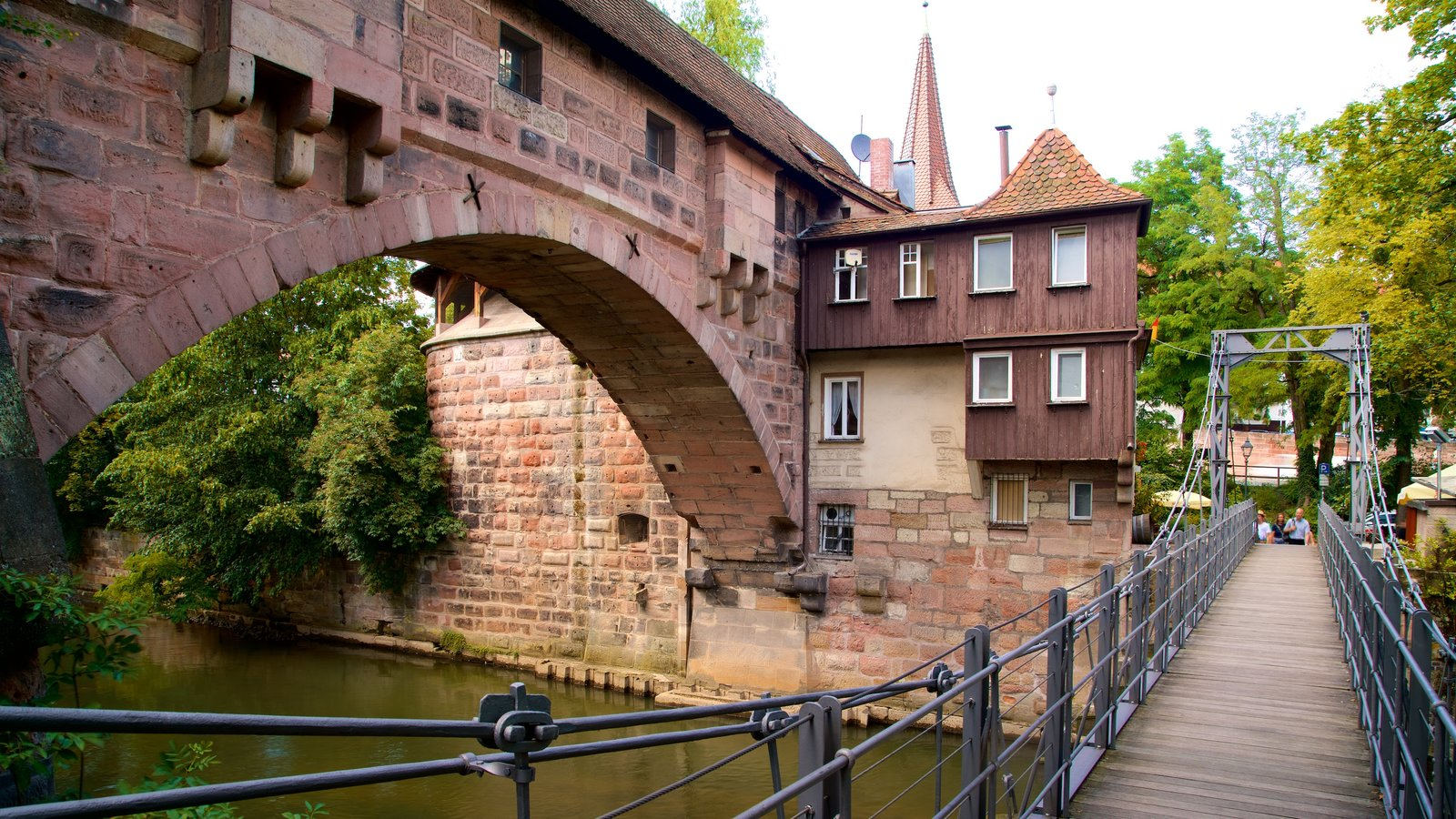 Nuremberg featuring heritage elements, a bridge and a river or creek