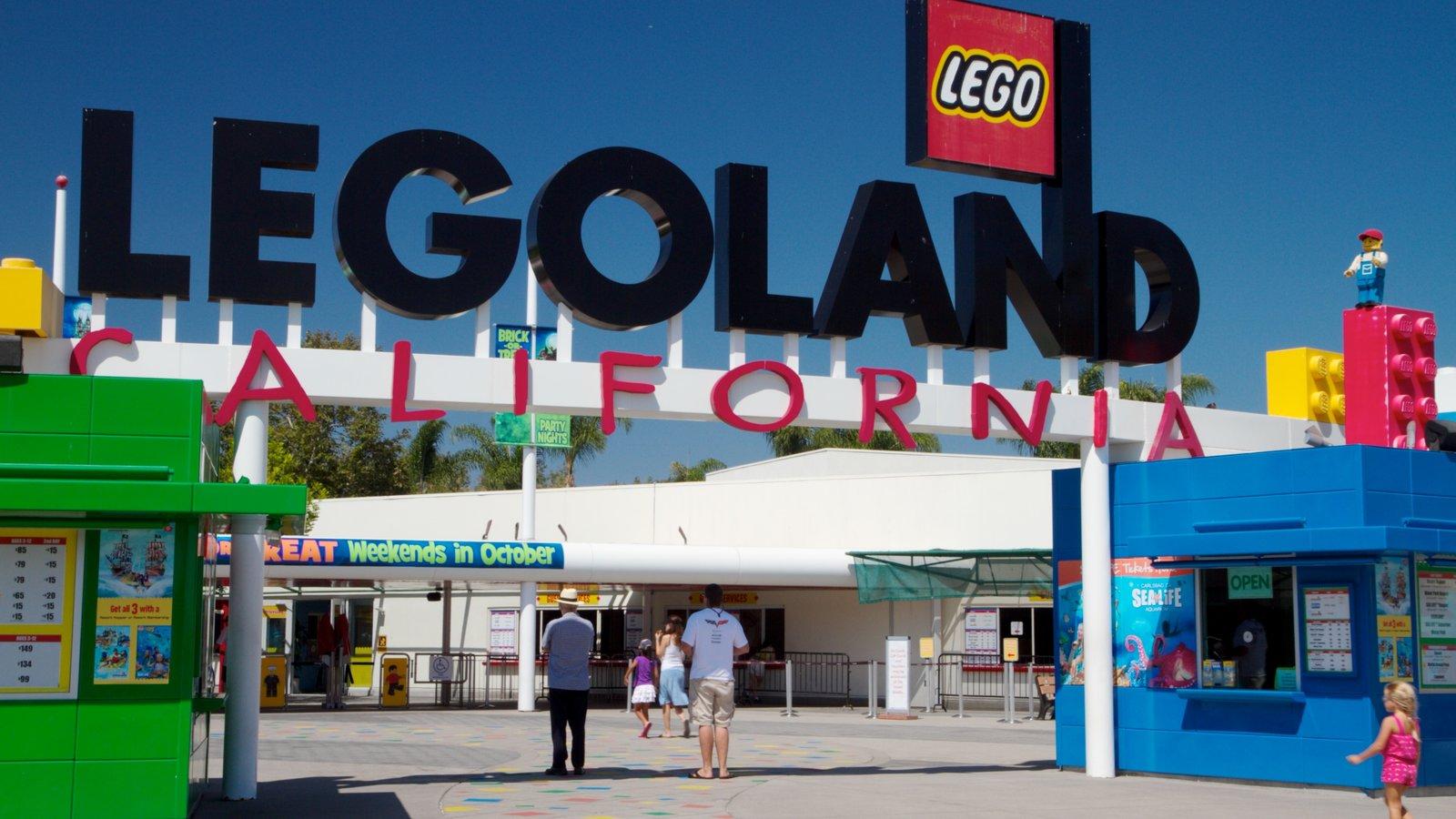 Legoland California caracterizando sinalização e passeios