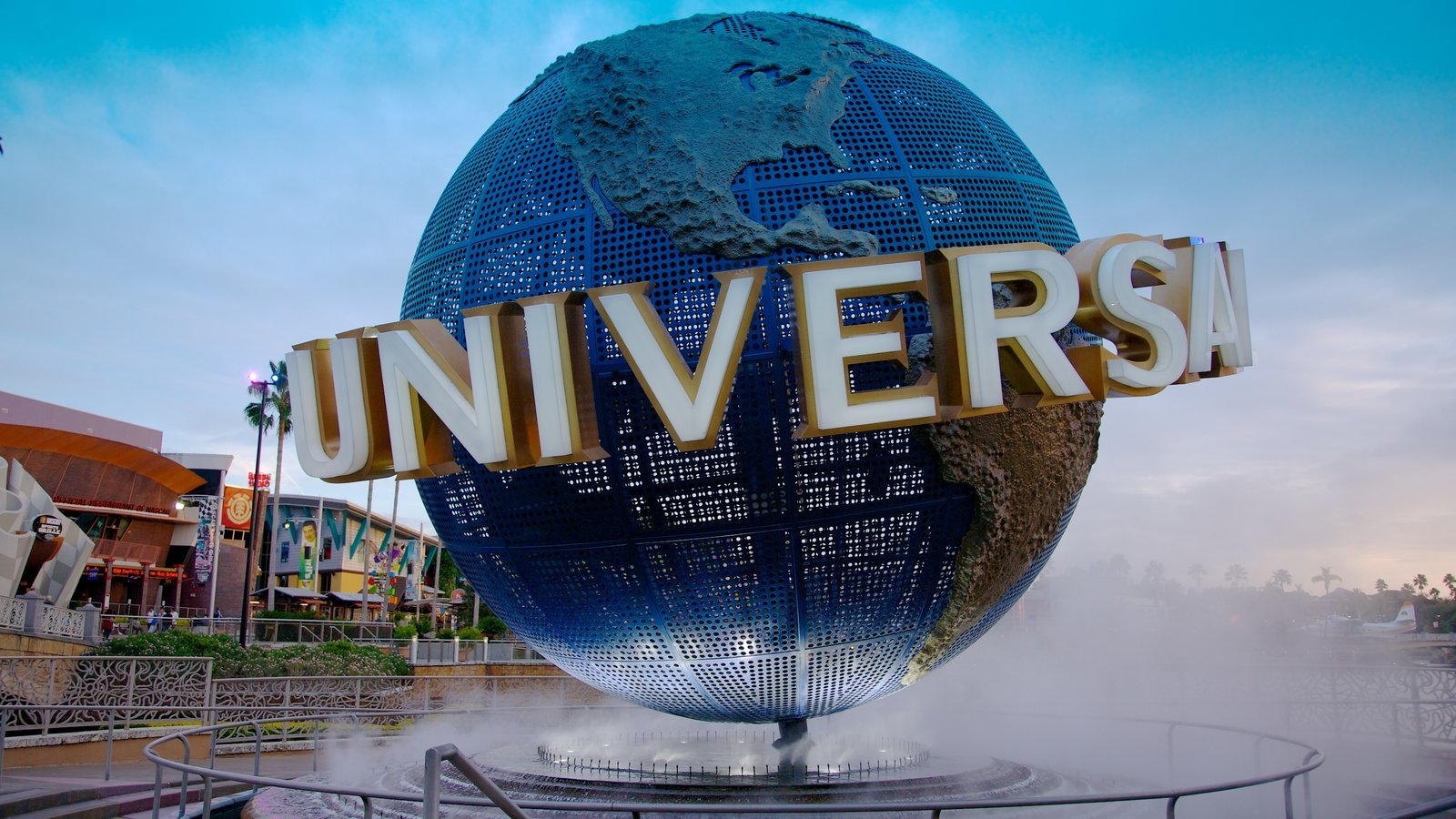Universal Studios Orlando which includes signage and rides
