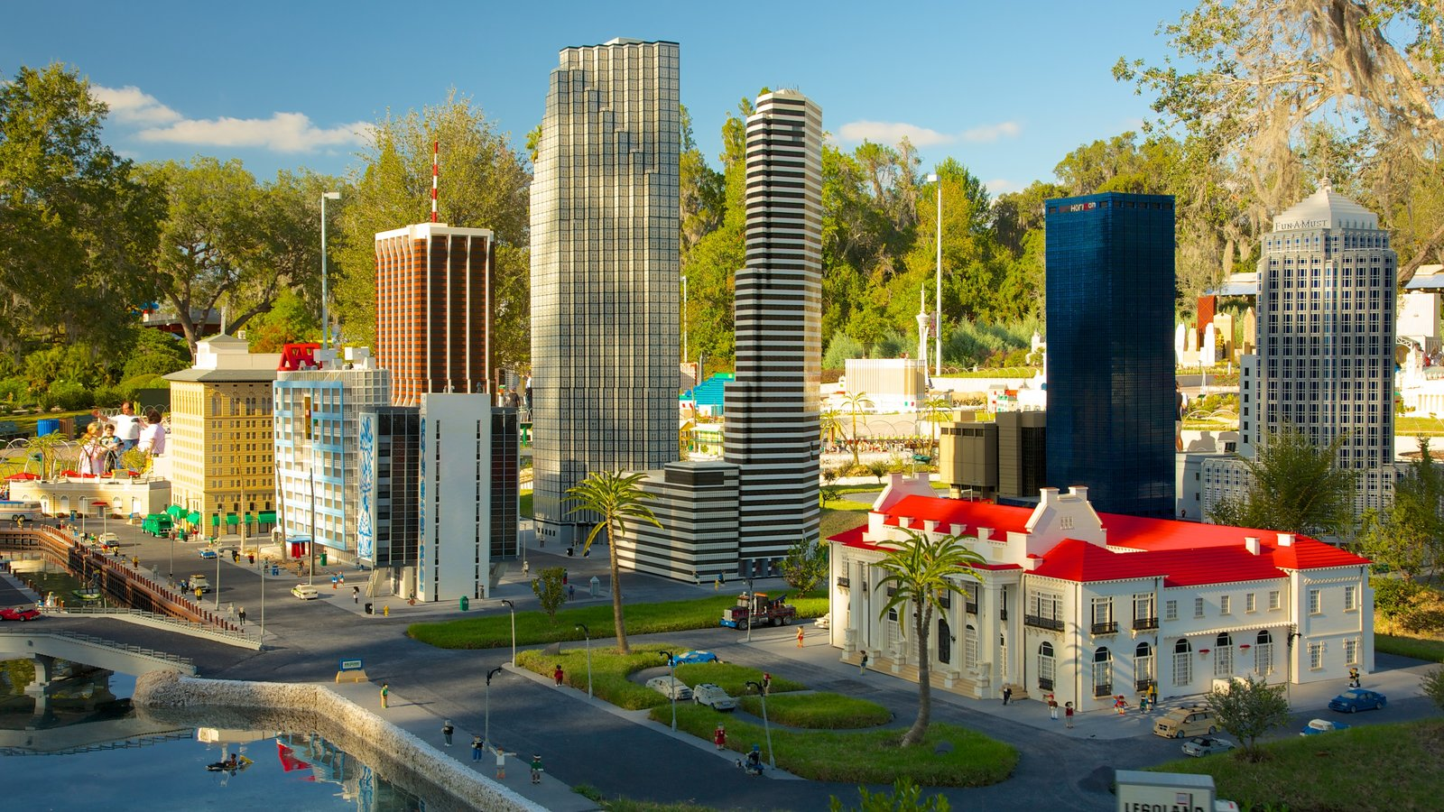 Legoland Florida which includes a pond, a river or creek and rides