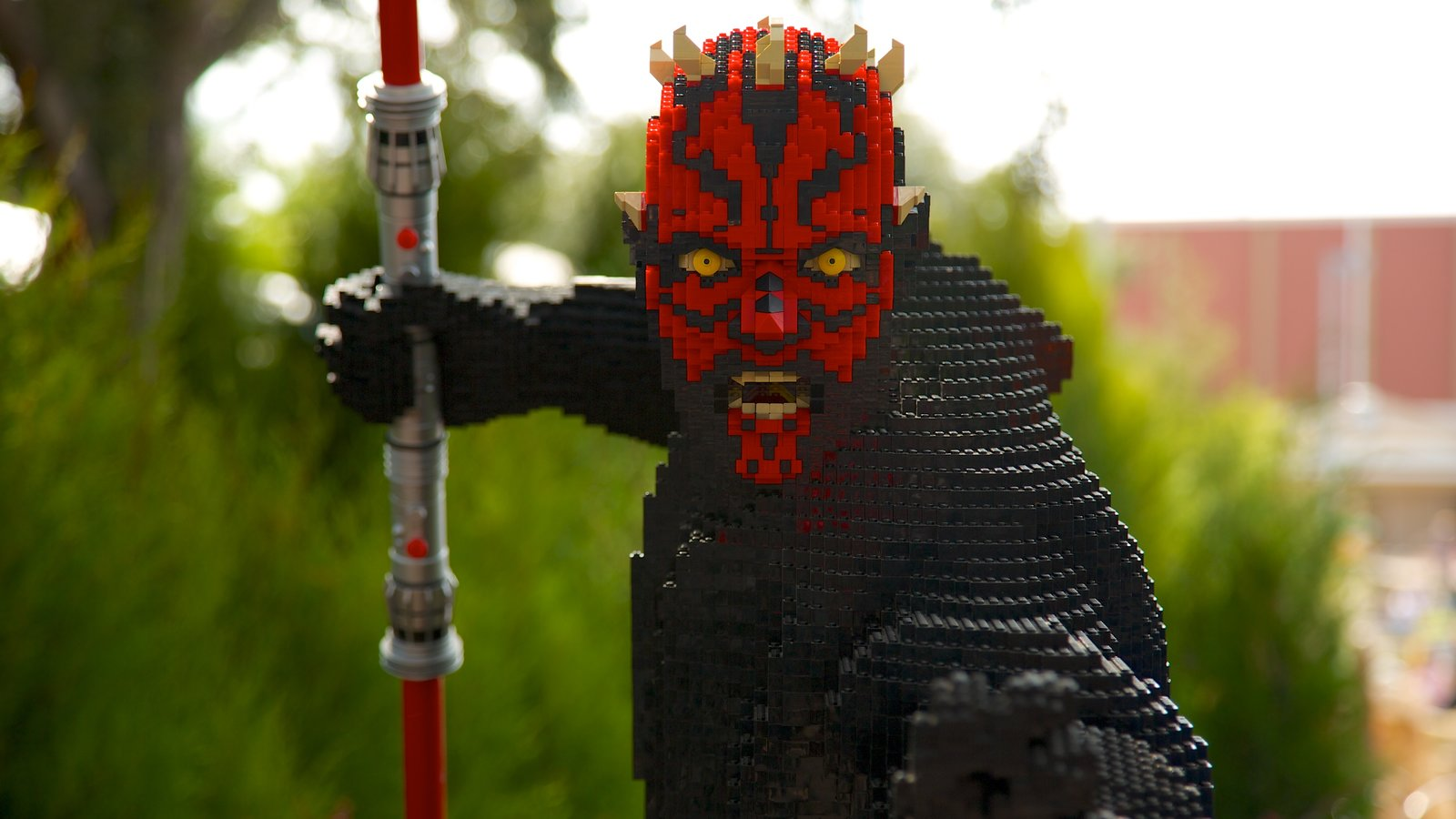 Legoland Florida showing rides, outdoor art and a statue or sculpture