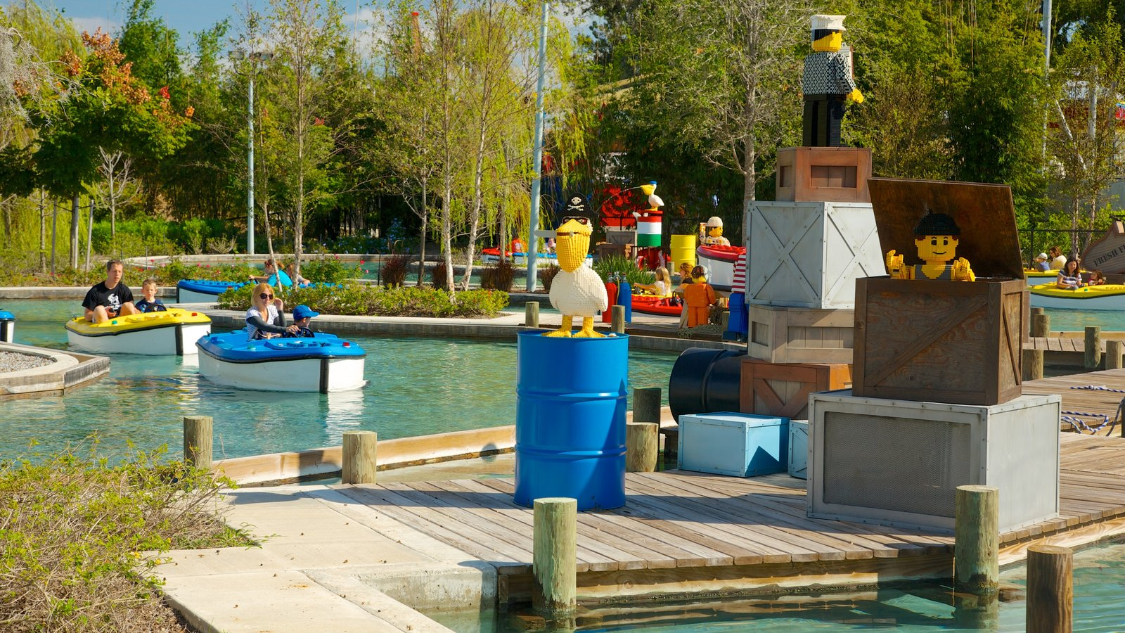 Legoland Florida which includes rides, a park and boating