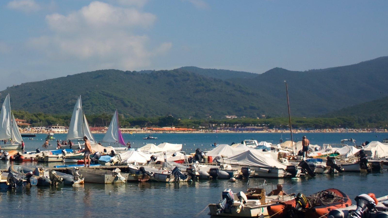 Marina di Campo which includes a bay or harbor