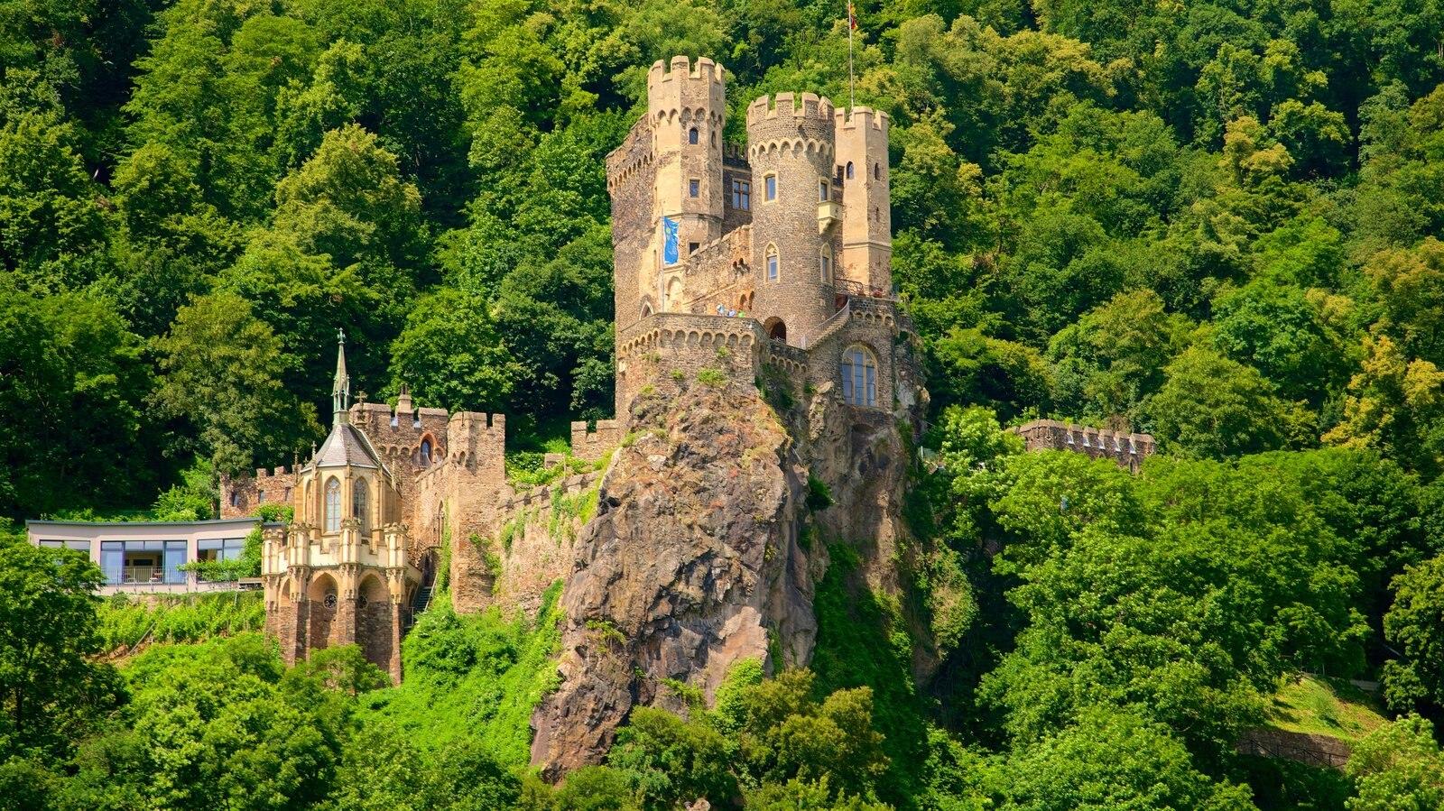 Reichenstein Castle ofreciendo castillo o palacio y patrimonio de arquitectura