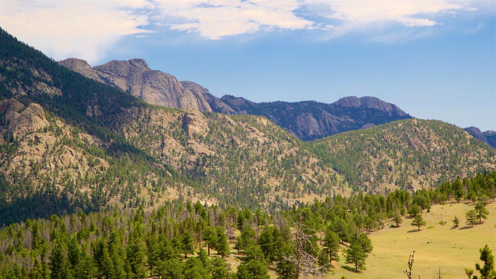Rocky Mountain National Park que inclui paisagem, montanhas e cenas tranquilas