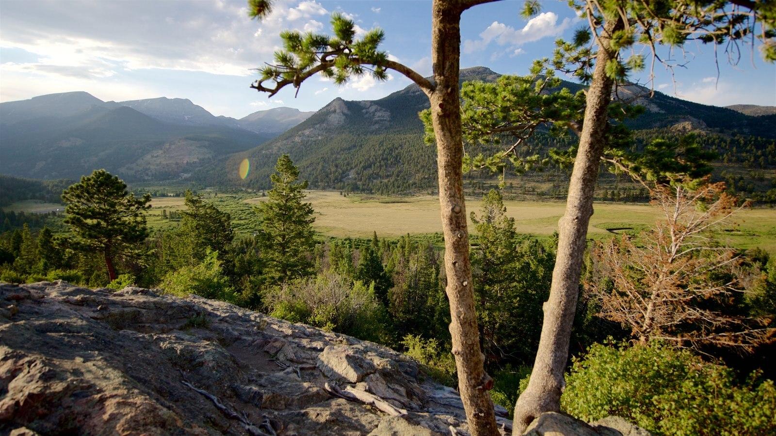 Rocky Mountain National Park caracterizando cenas tranquilas, paisagem e montanhas
