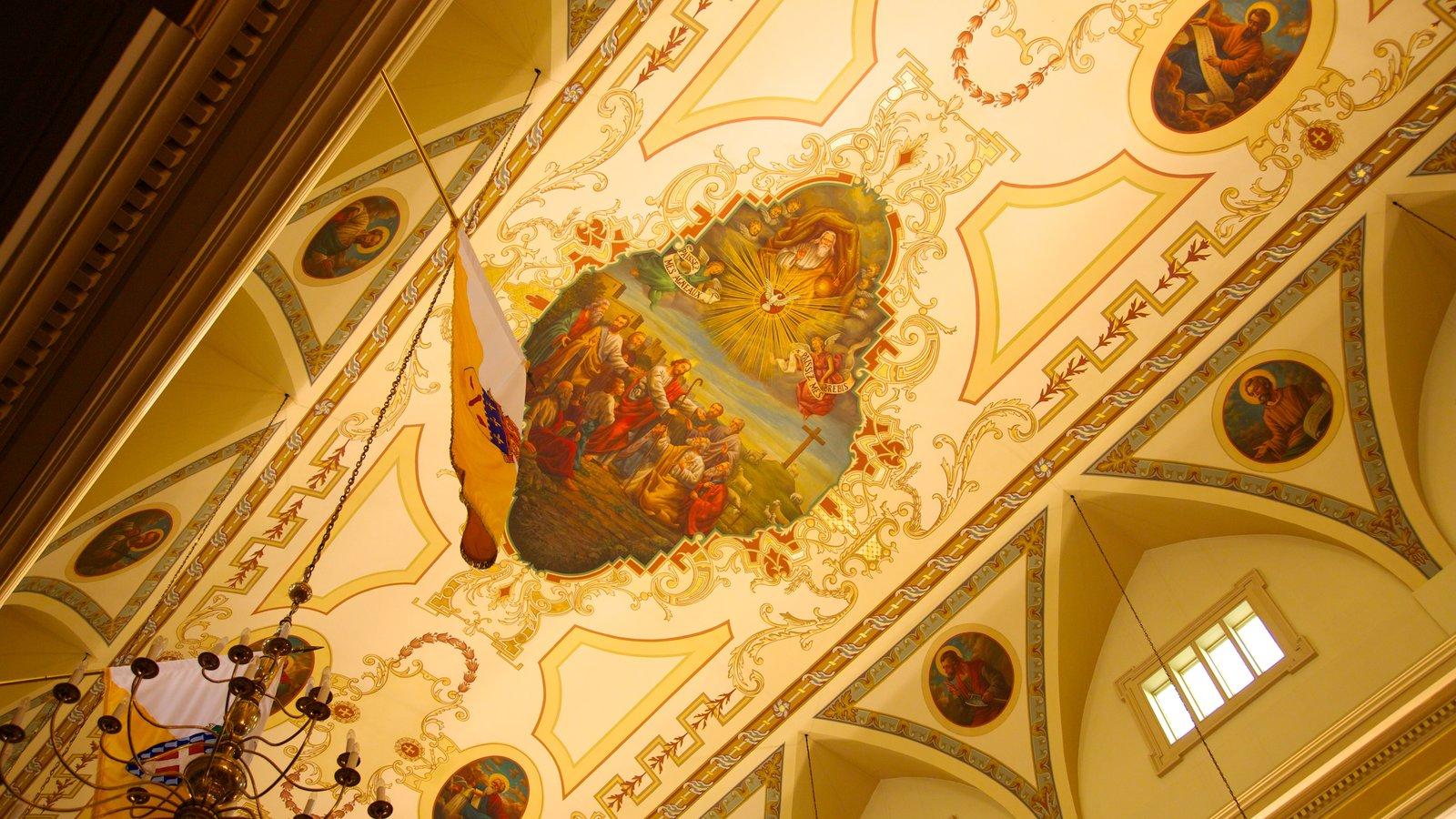 Saint Louis Cathedral caracterizando uma igreja ou catedral, vistas internas e elementos religiosos
