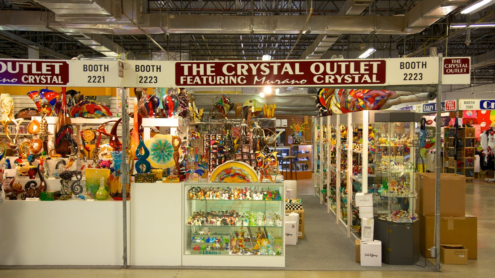 Festival Flea Market which includes interior views, signage and markets