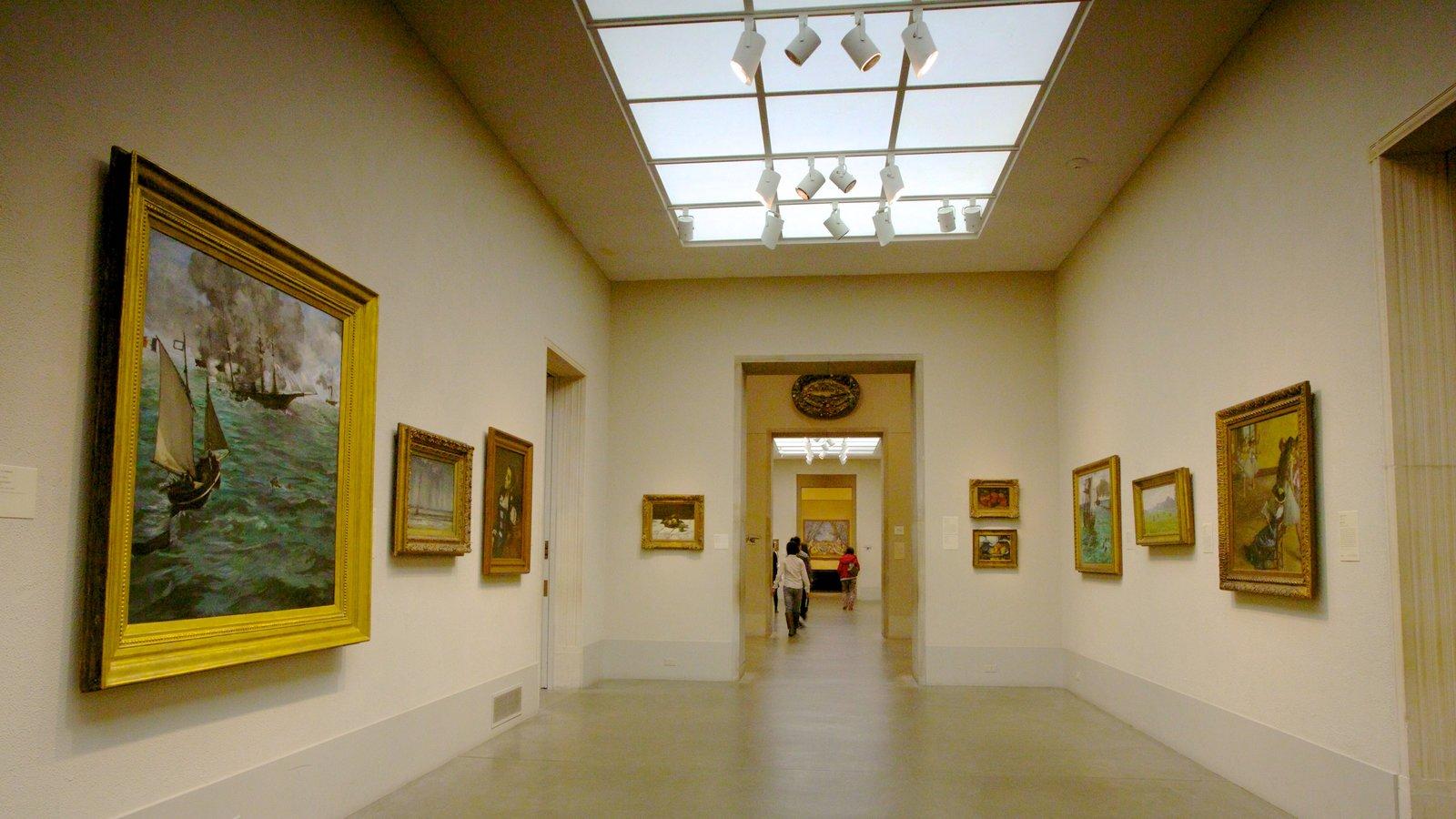 Museu de Arte caracterizando arte e vistas internas