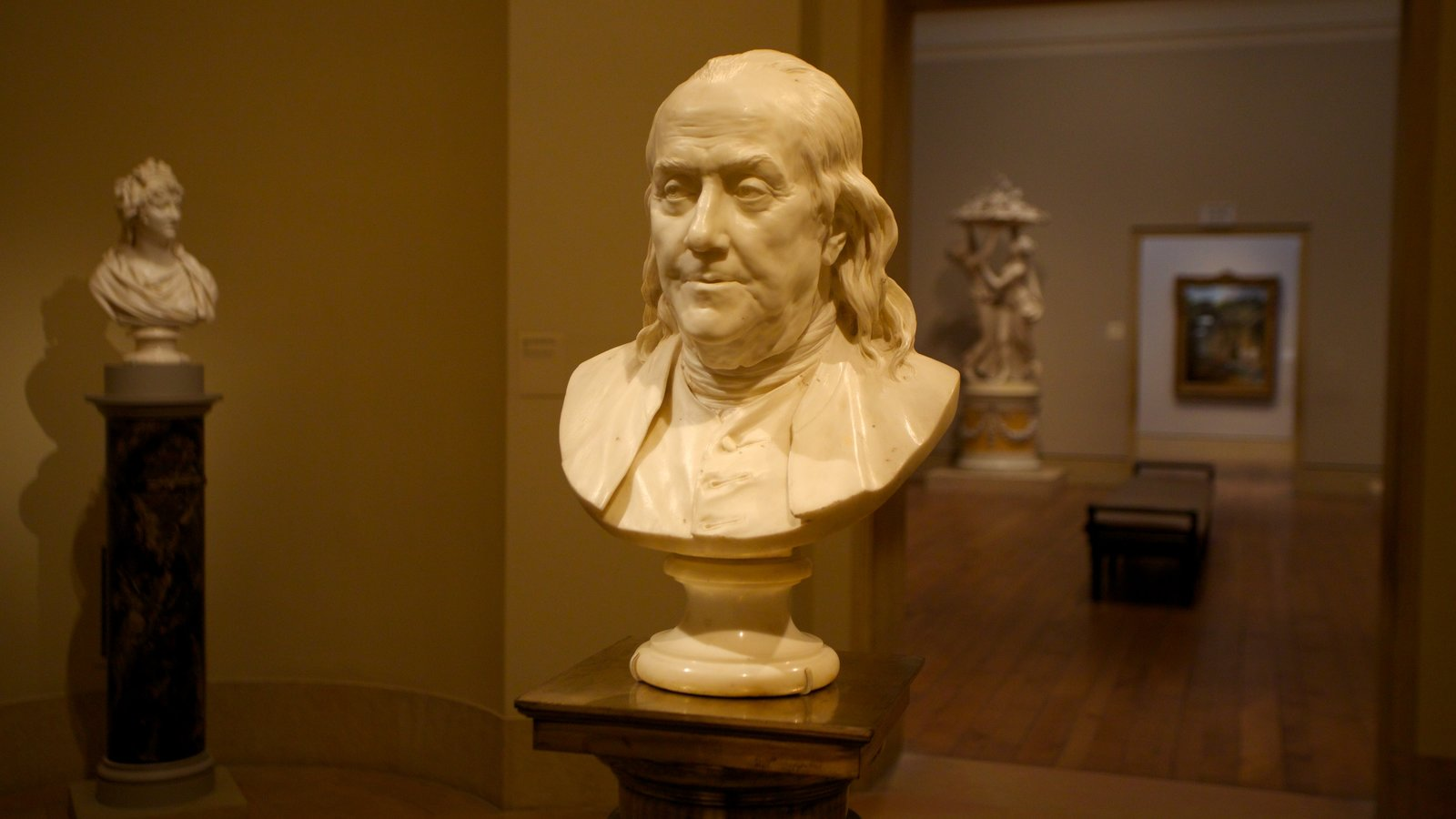 Philadelphia Museum of Art ofreciendo arte y vistas interiores