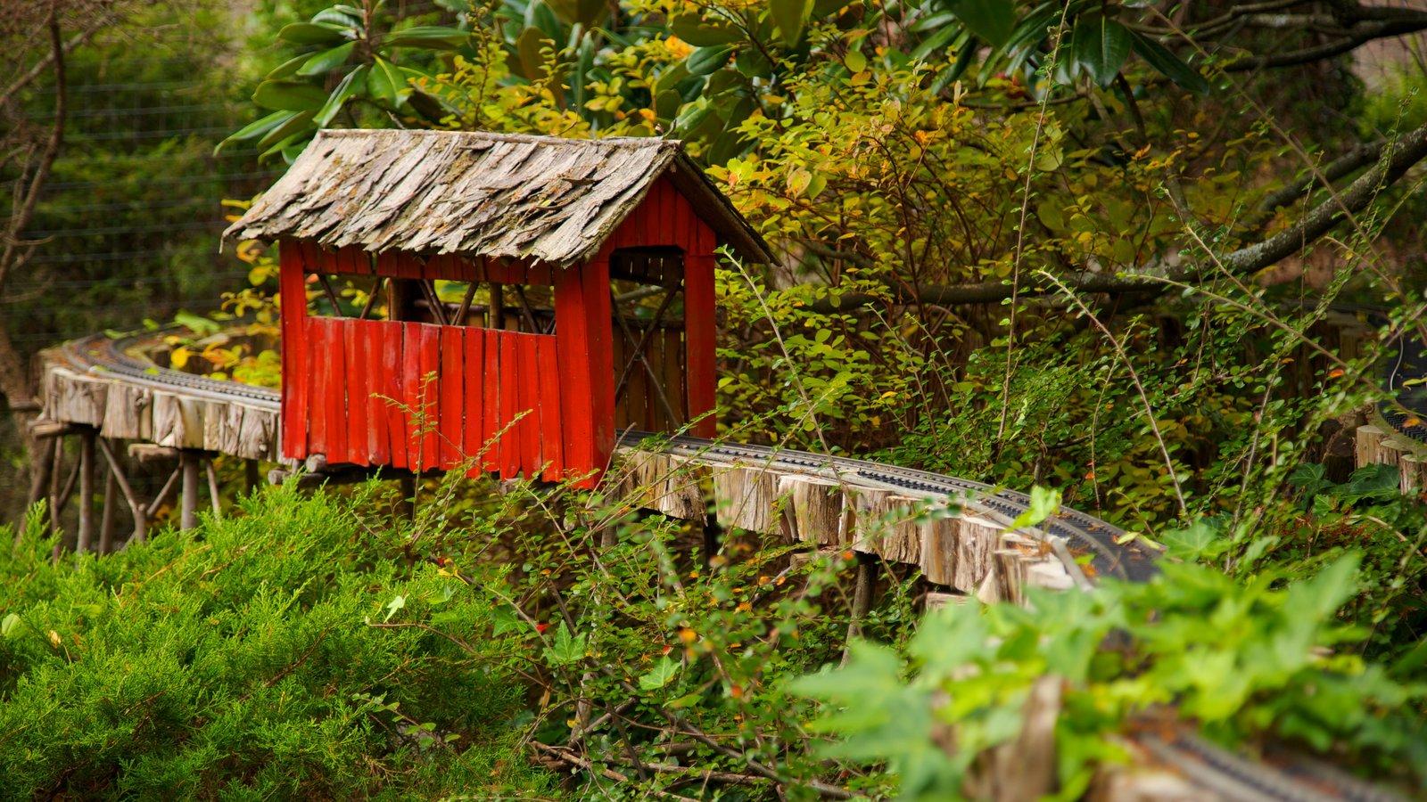 Morris Arboretum mostrando artículos de ferrocarril