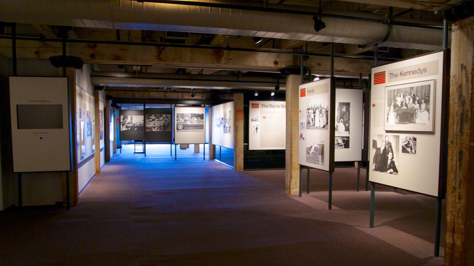 Sixth Floor Museum Featuring Interior Views