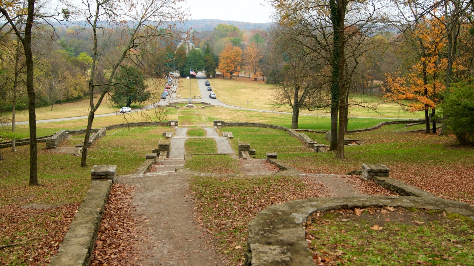 Edwin and Percy Warner Parks featuring a garden and fall colors