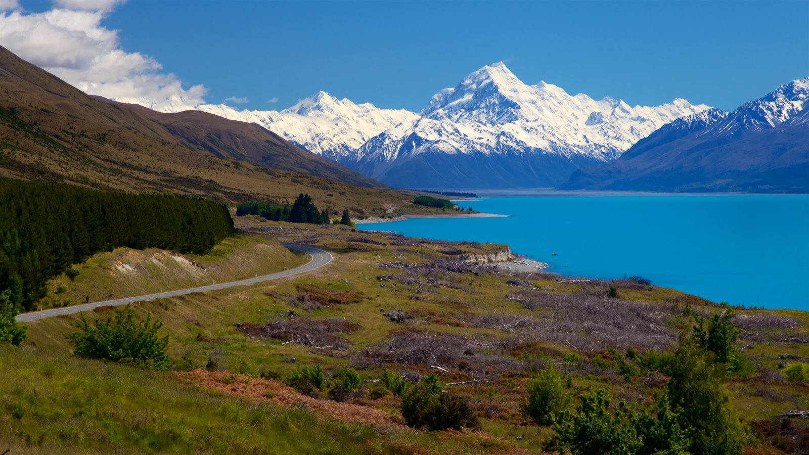 Mount Cook National Park featuring tranquil scenes, mountains and snow