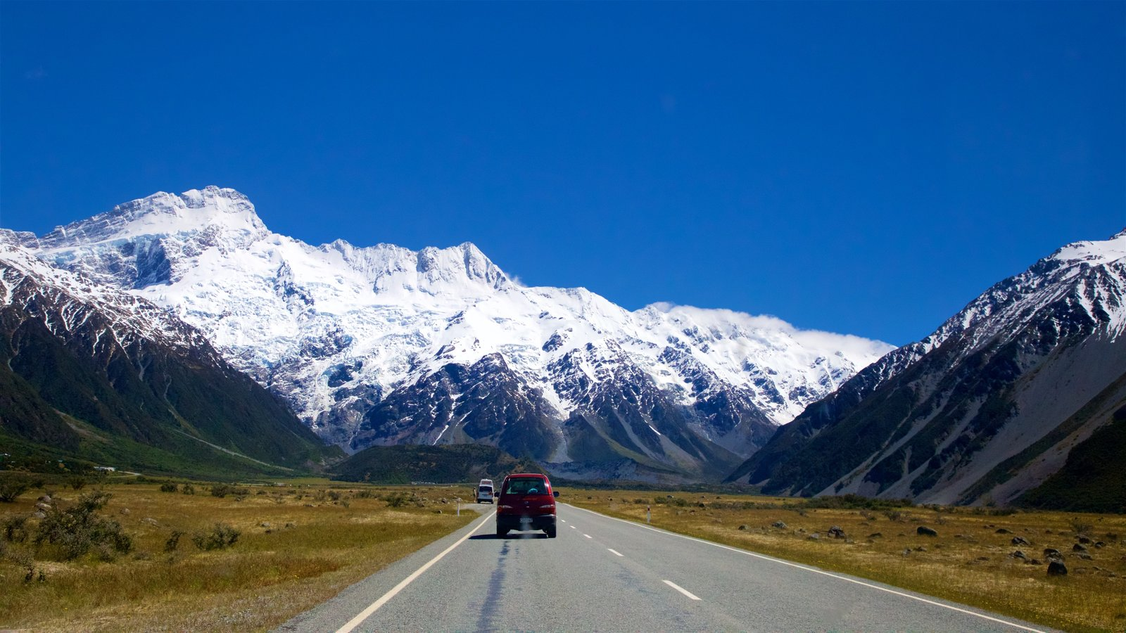Mount Cook National Park which includes tranquil scenes, mountains and snow