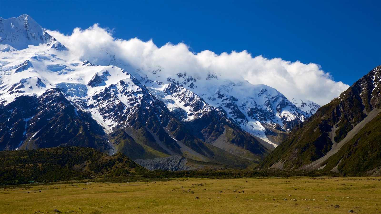 Mount Cook National Park which includes tranquil scenes, mountains and landscape views