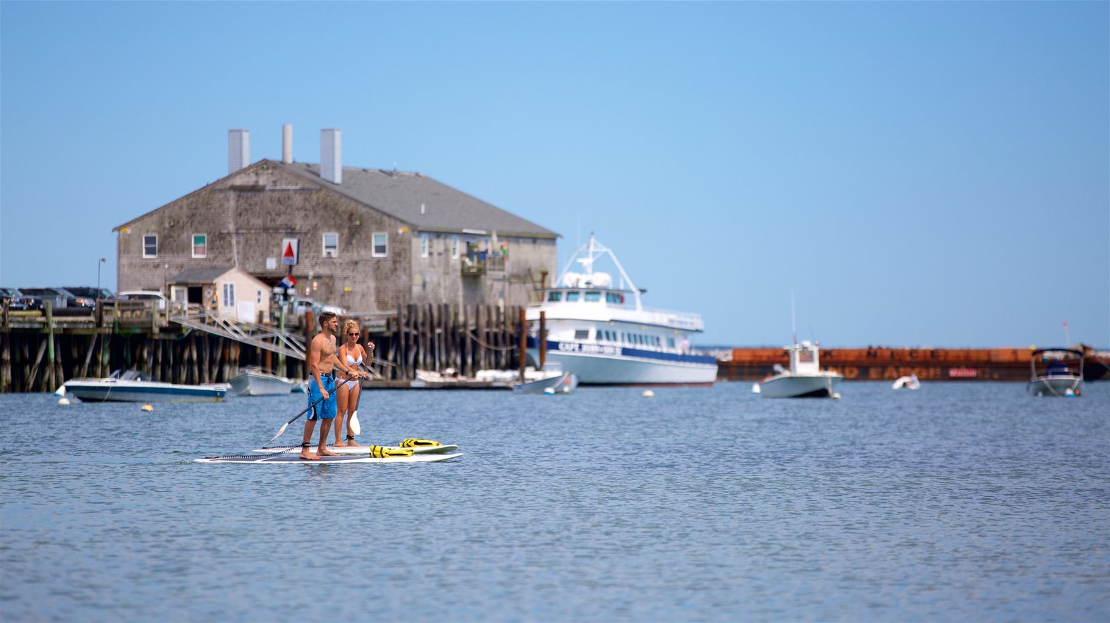 Cape Cod featuring kayaking or canoeing and a bay or harbor as well as a couple