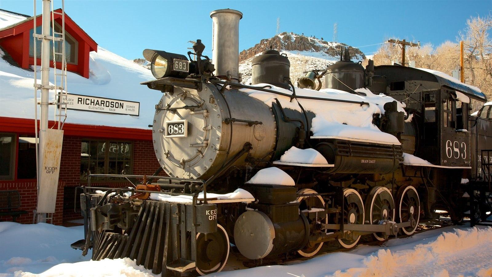 Golden que inclui elementos de patrimônio e itens de ferrovia