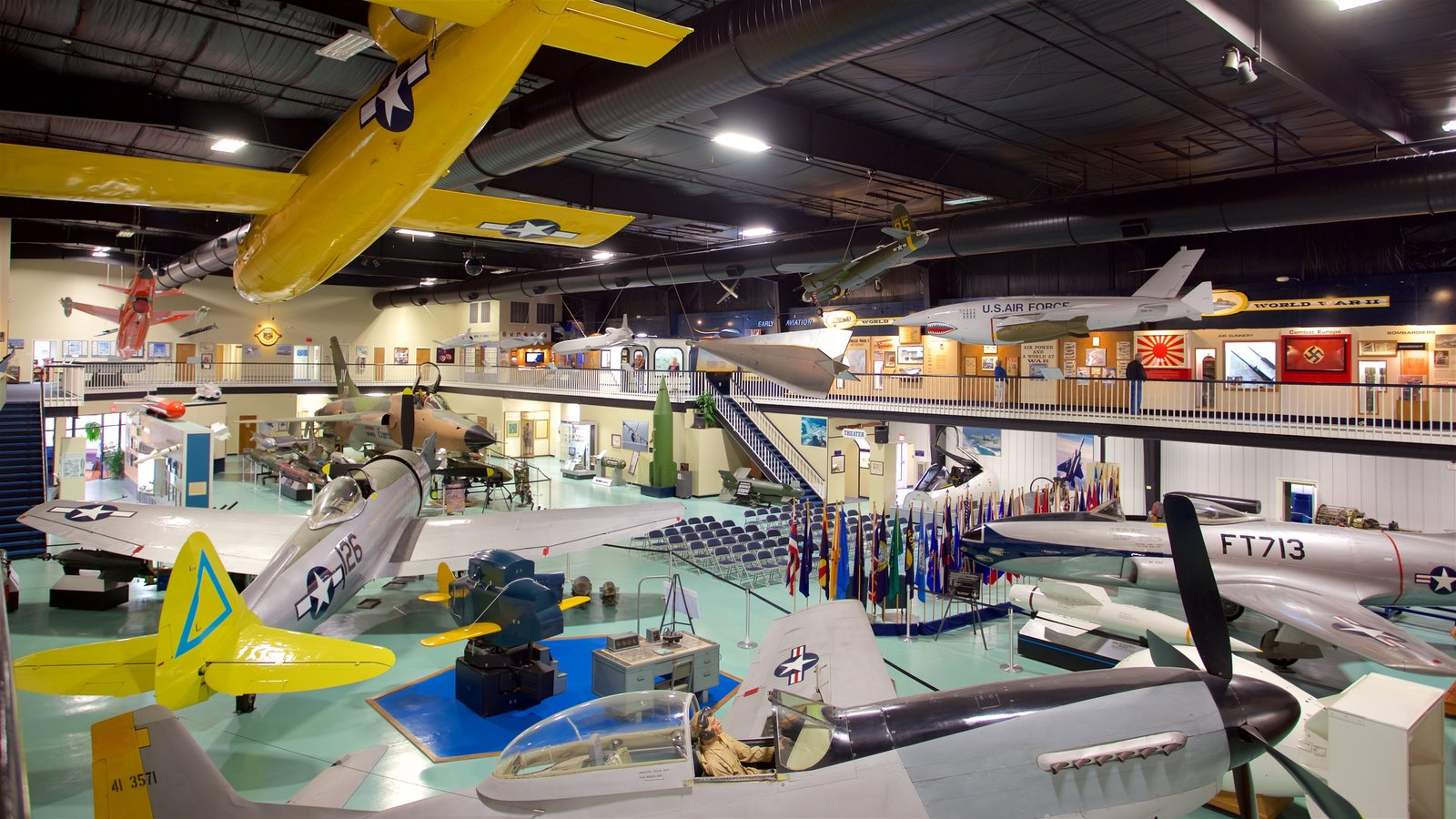 Air Force Armament Museum which includes military items, heritage elements and interior views