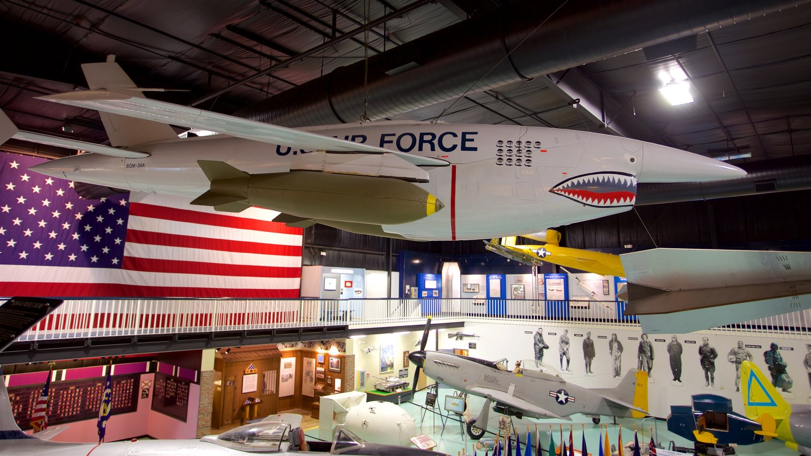 Air Force Armament Museum featuring heritage elements, interior views and military items