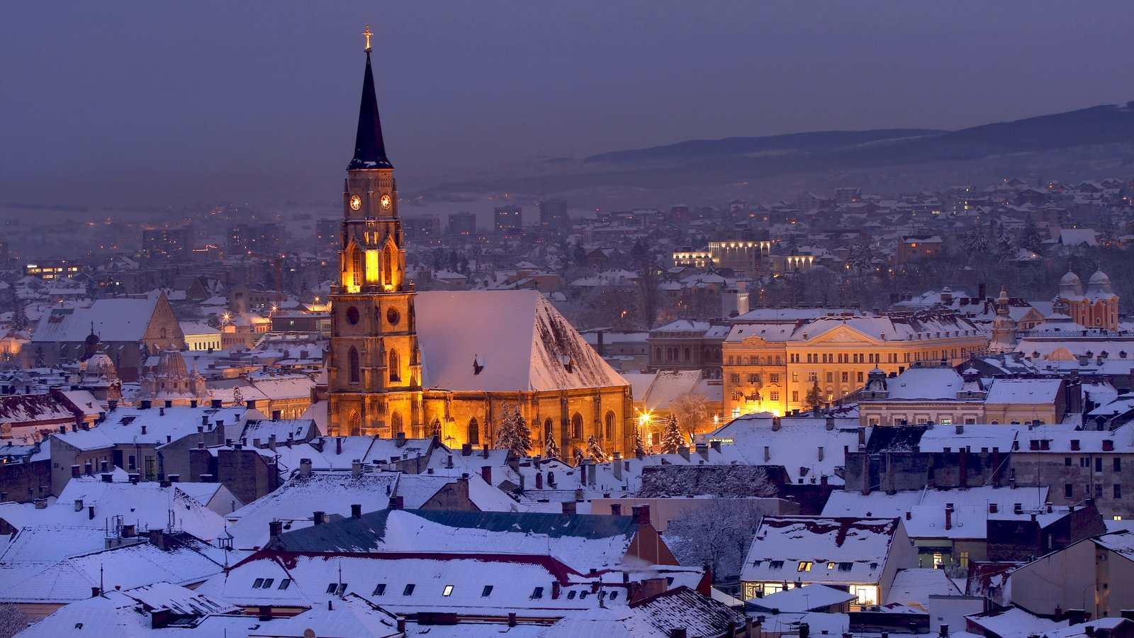 Transylvania which includes night scenes and landscape views