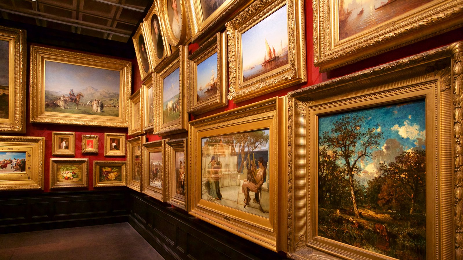 Walters Art  Museum showing art and interior views