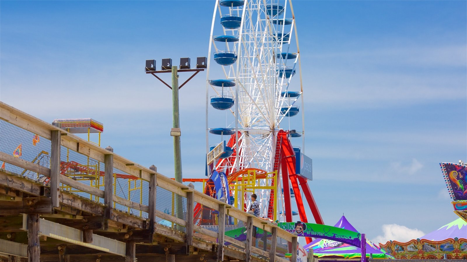 Ocean City Beach showing rides