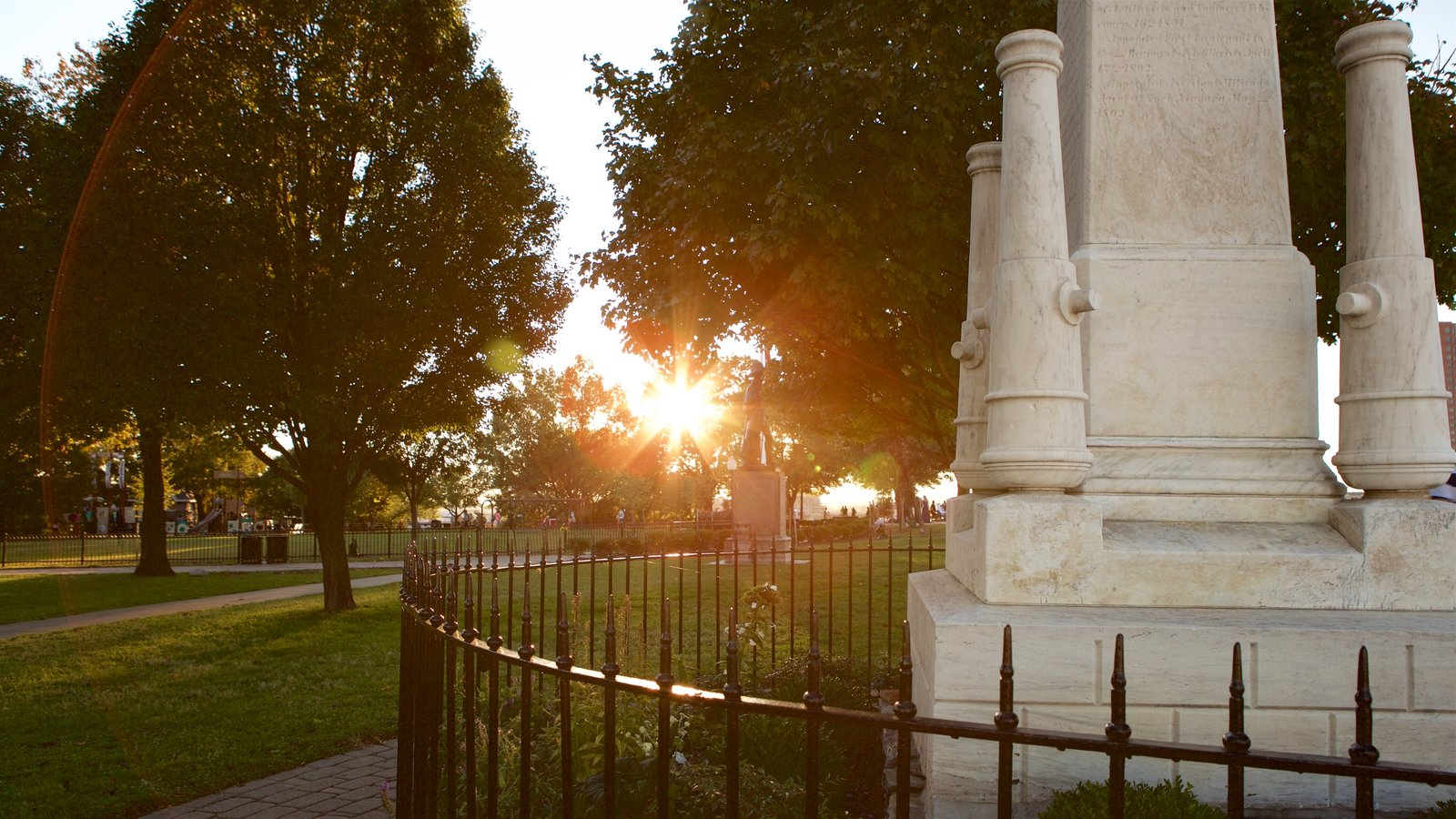 Federal Hill Park featuring a sunset and a park