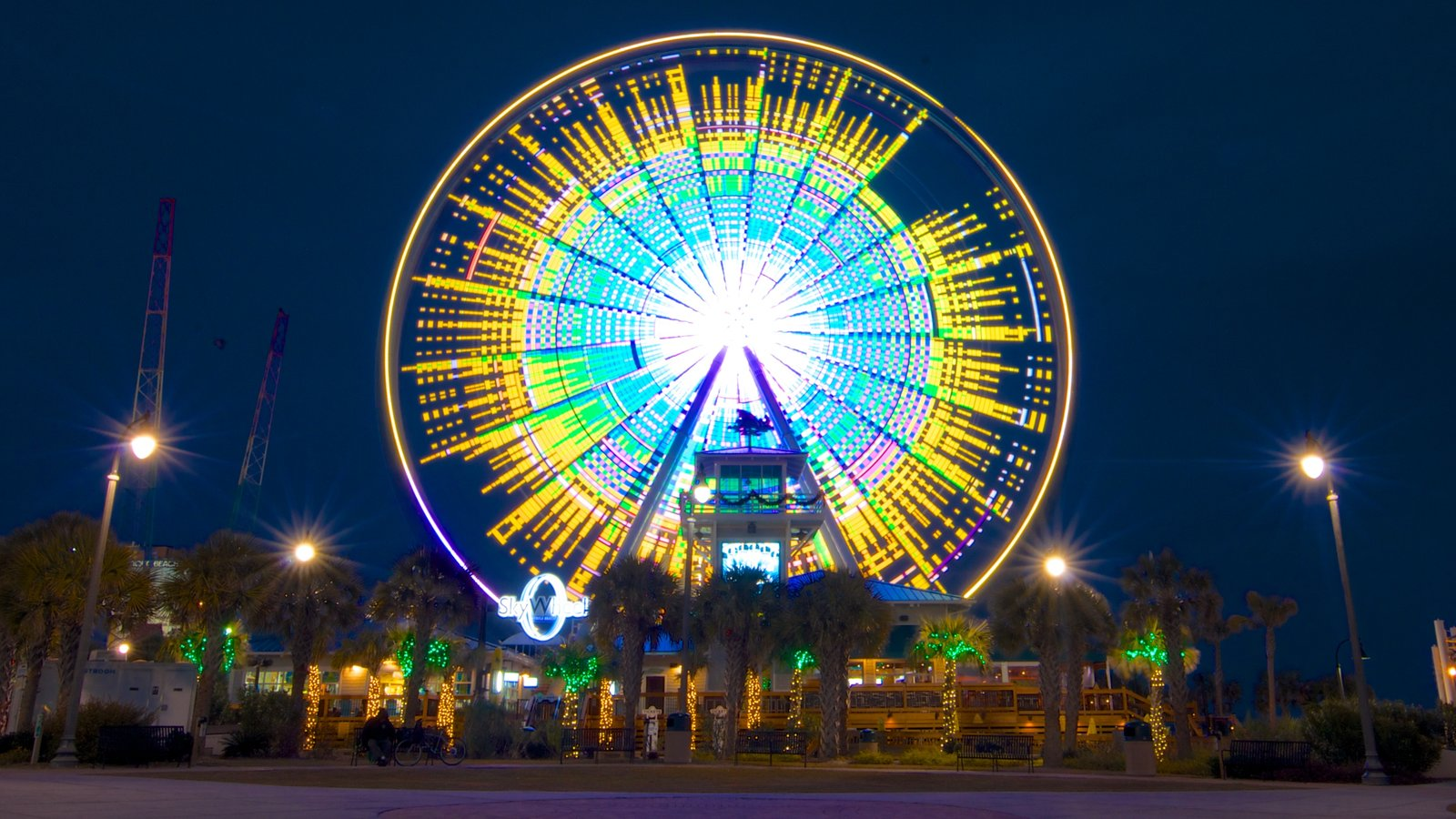SkyWheel Myrtle Beach Featuring Night Scenes And Rides