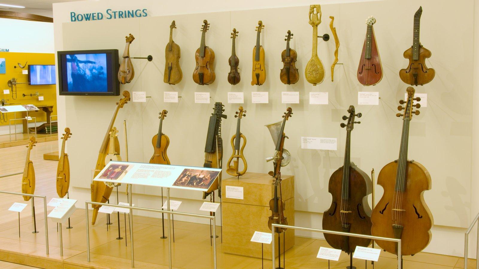 Museu dos Instrumentos Musicais caracterizando vistas internas