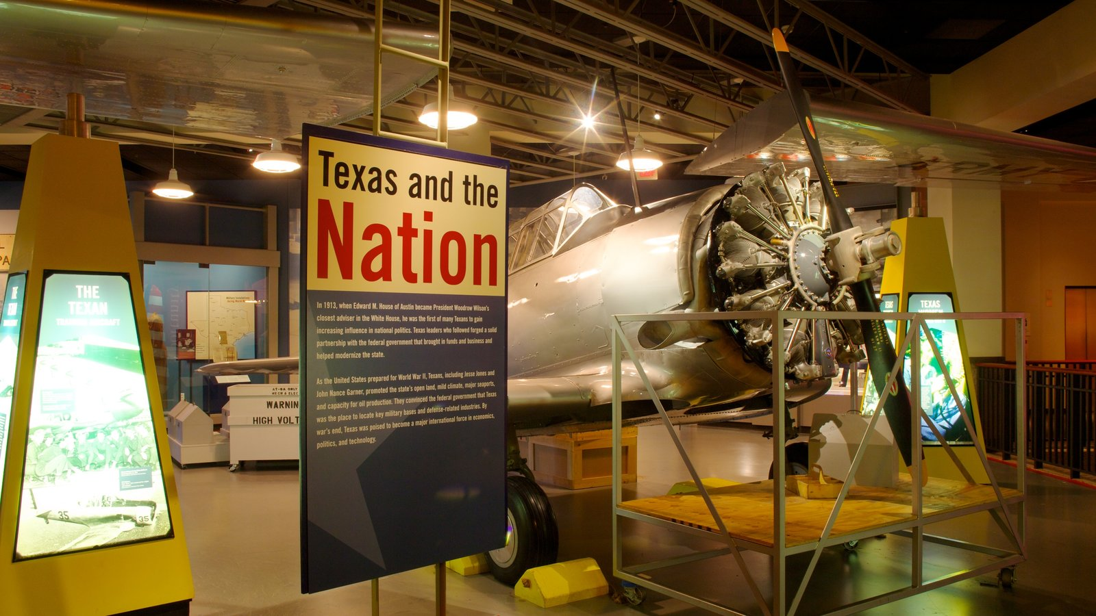 Bob Bullock Texas State History Museum which includes interior views and aircraft