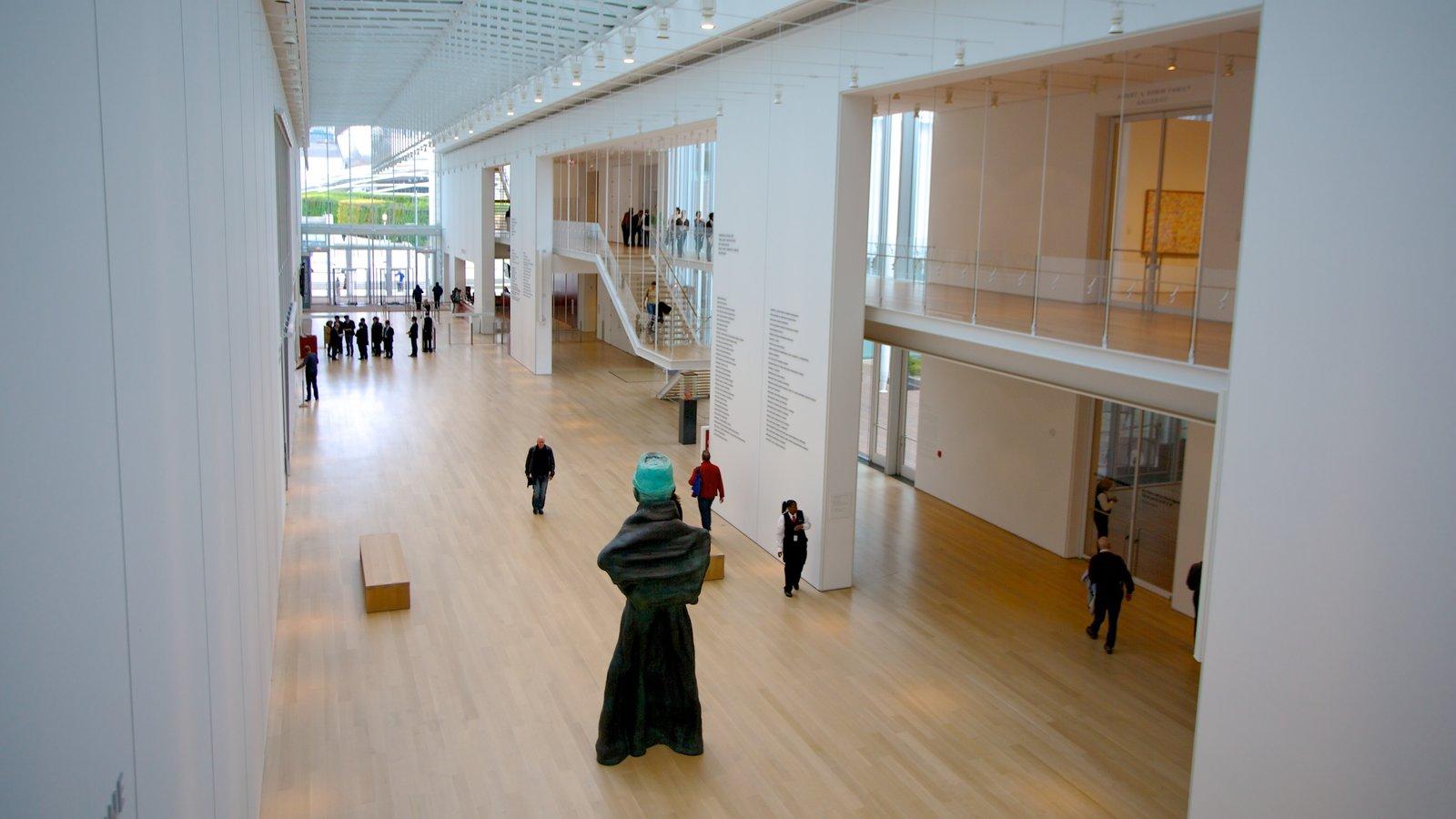 Art Institute of Chicago featuring interior views and art