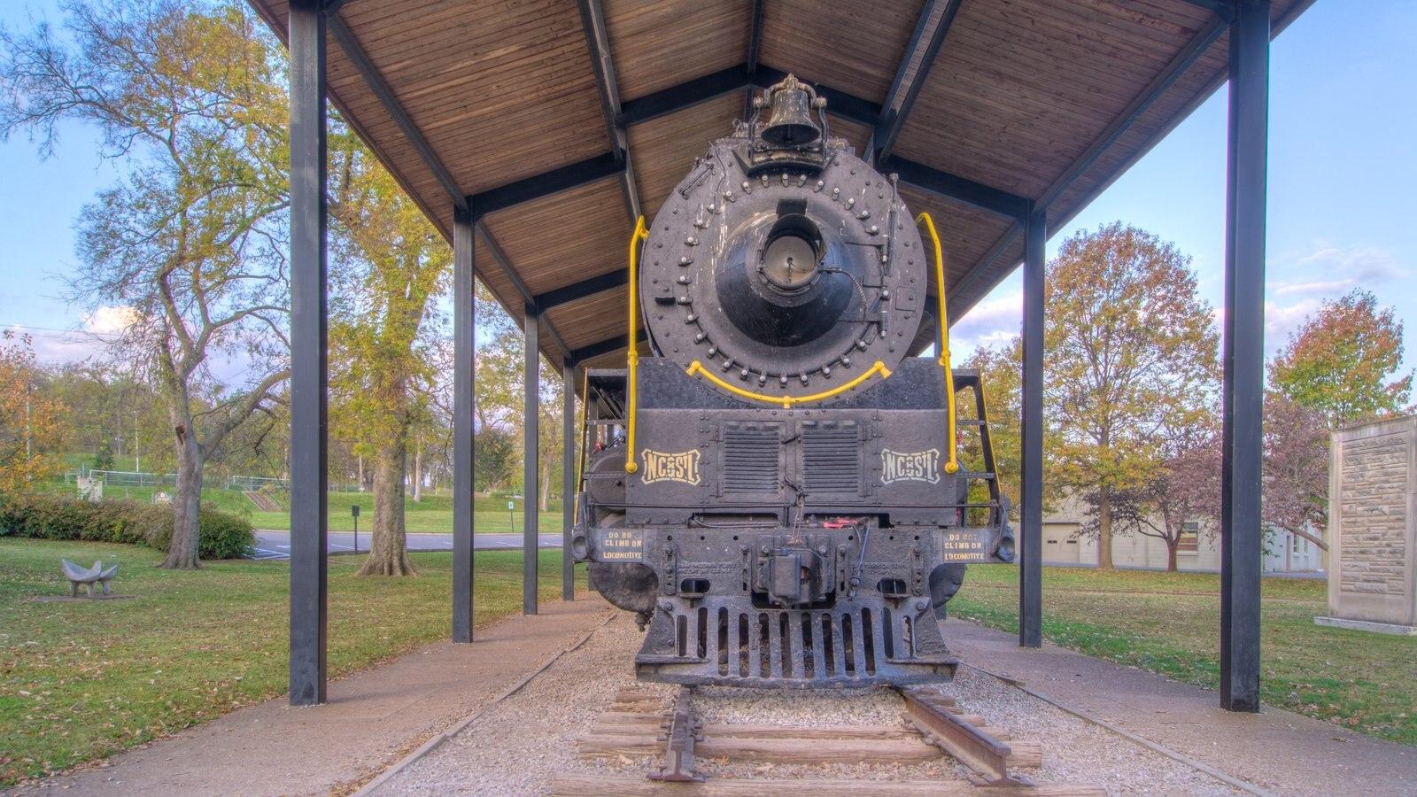 Parthenon mostrando artículos de ferrocarril