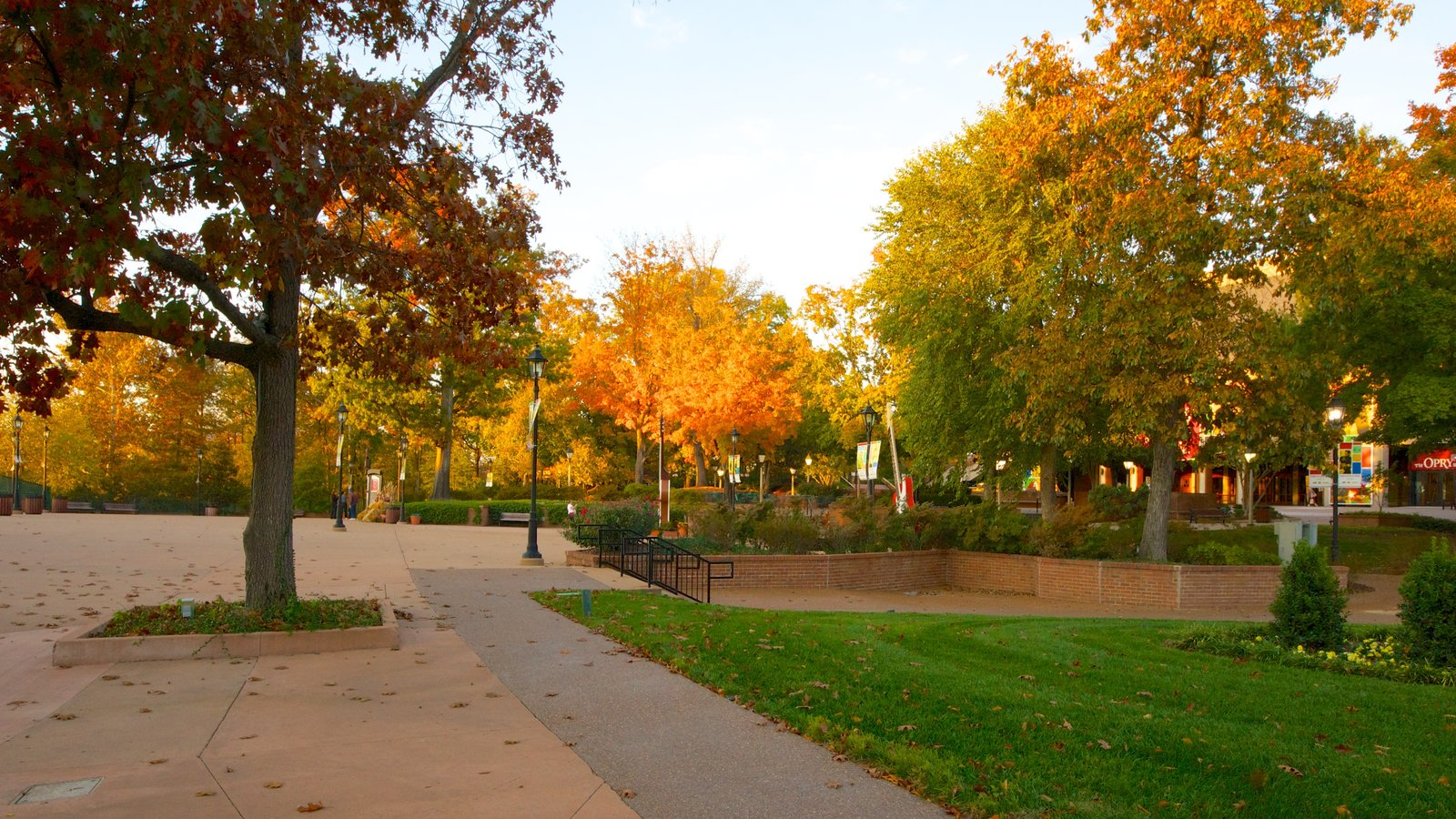 Grand Ole Opry featuring a park, autumn leaves and landscape views