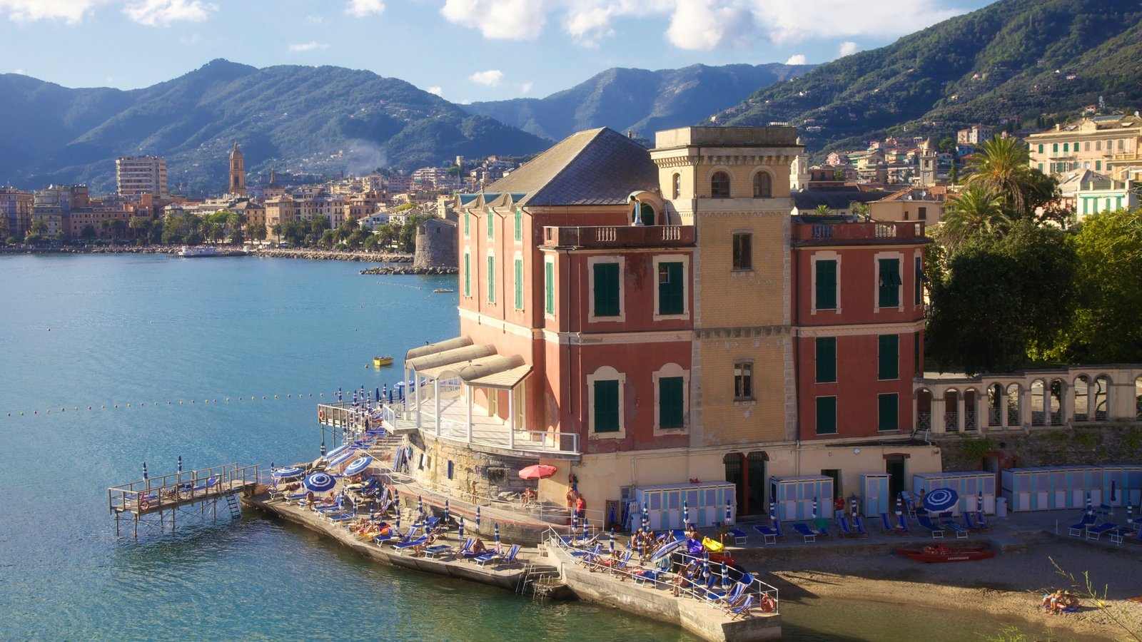 Rapallo featuring tranquil scenes, a coastal town and a bay or harbor