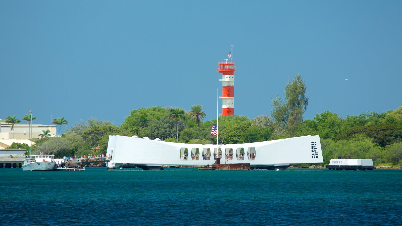 Pearl Harbor which includes a bay or harbor