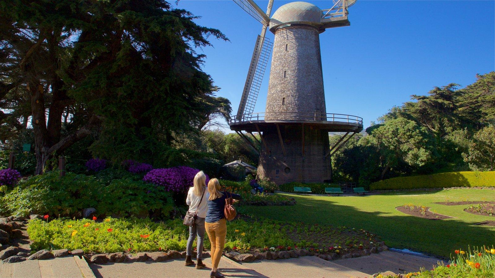 Golden Gate Park mostrando um parque assim como um casal
