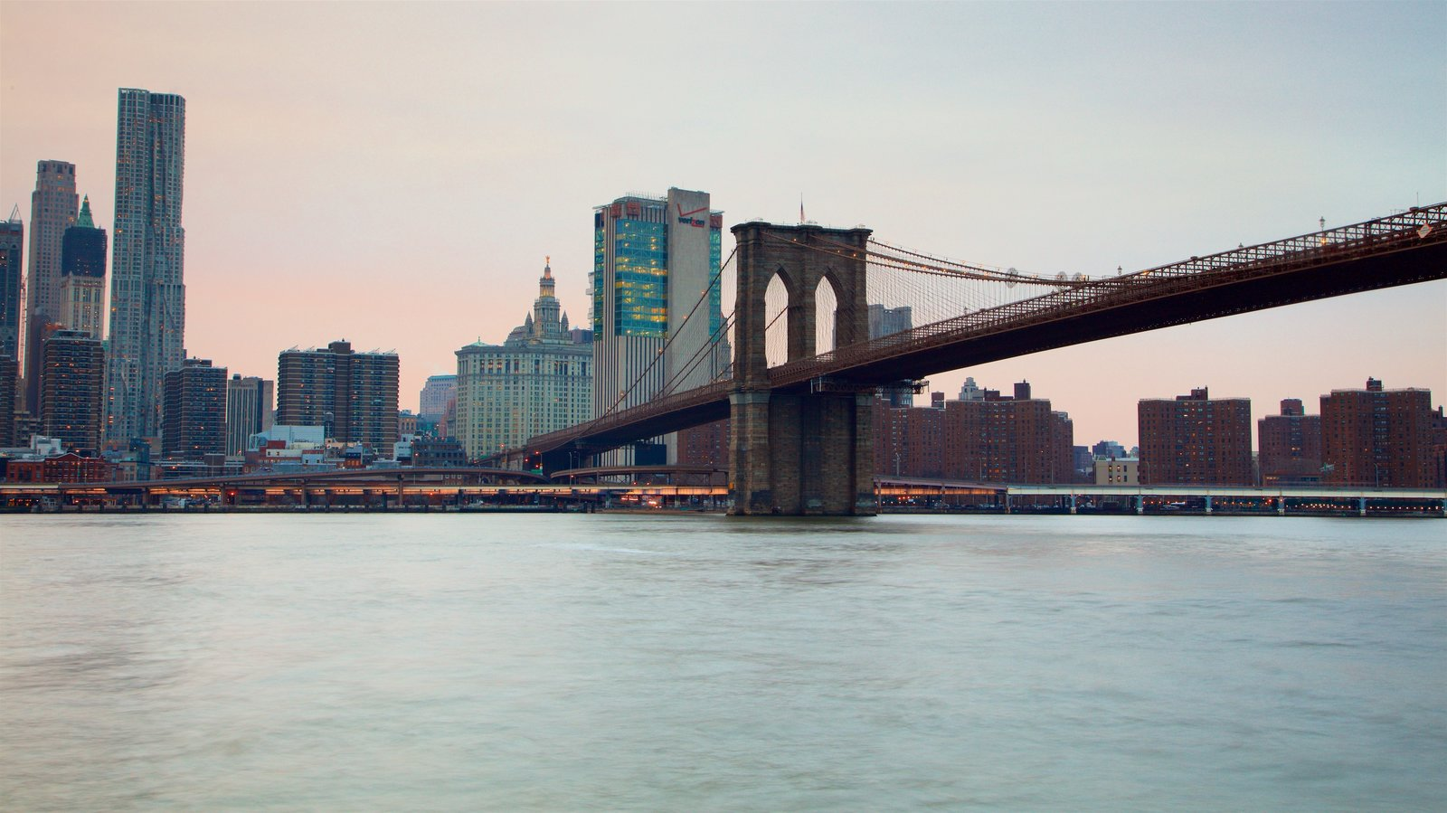 Sunset sunrise pictures view images of brooklyn bridge park brooklyn bridge park which includes a river or creek a sunset and a bridge malvernweather Gallery