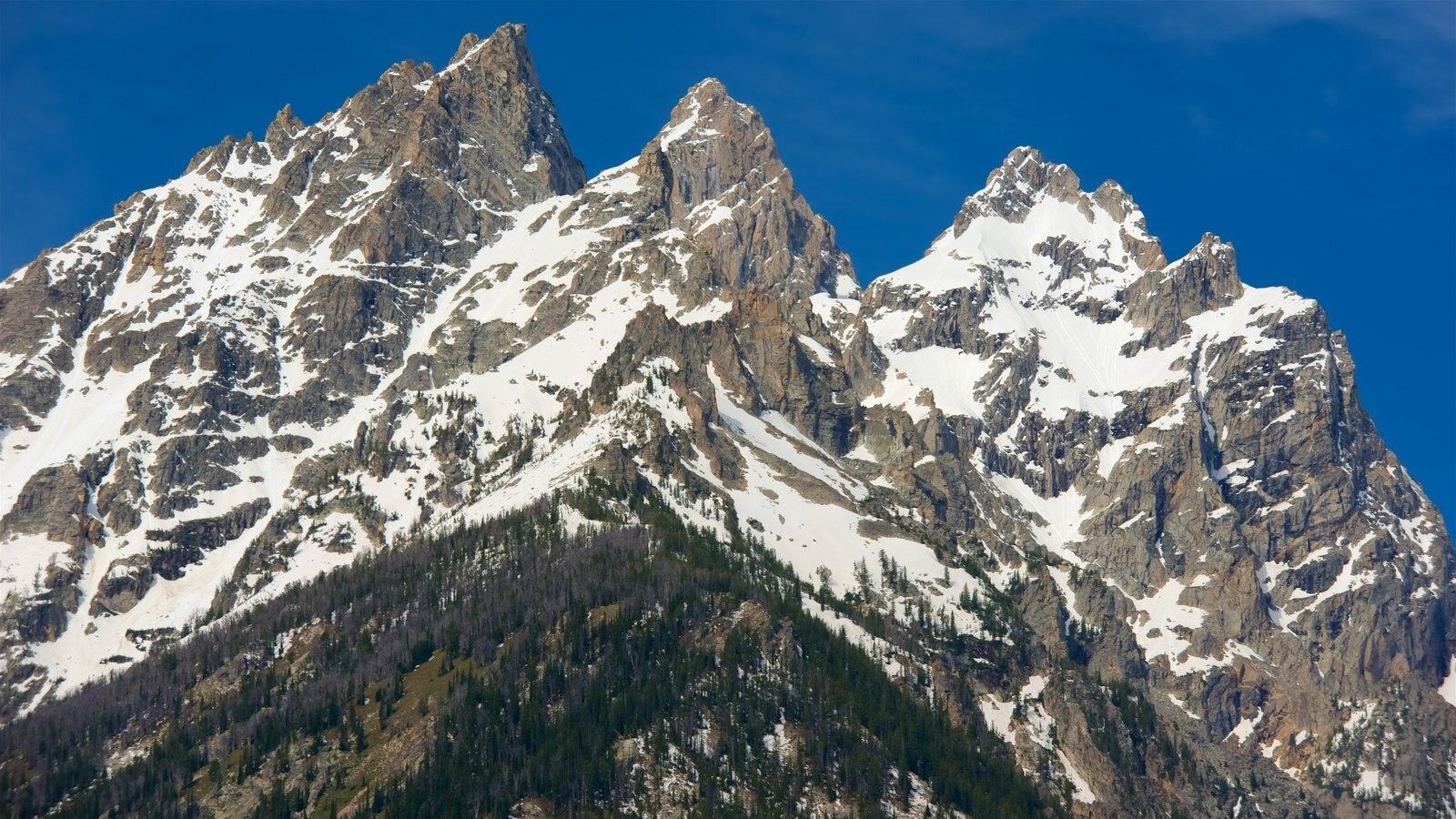 Cañón del lago Cascade mostrando montañas y nieve