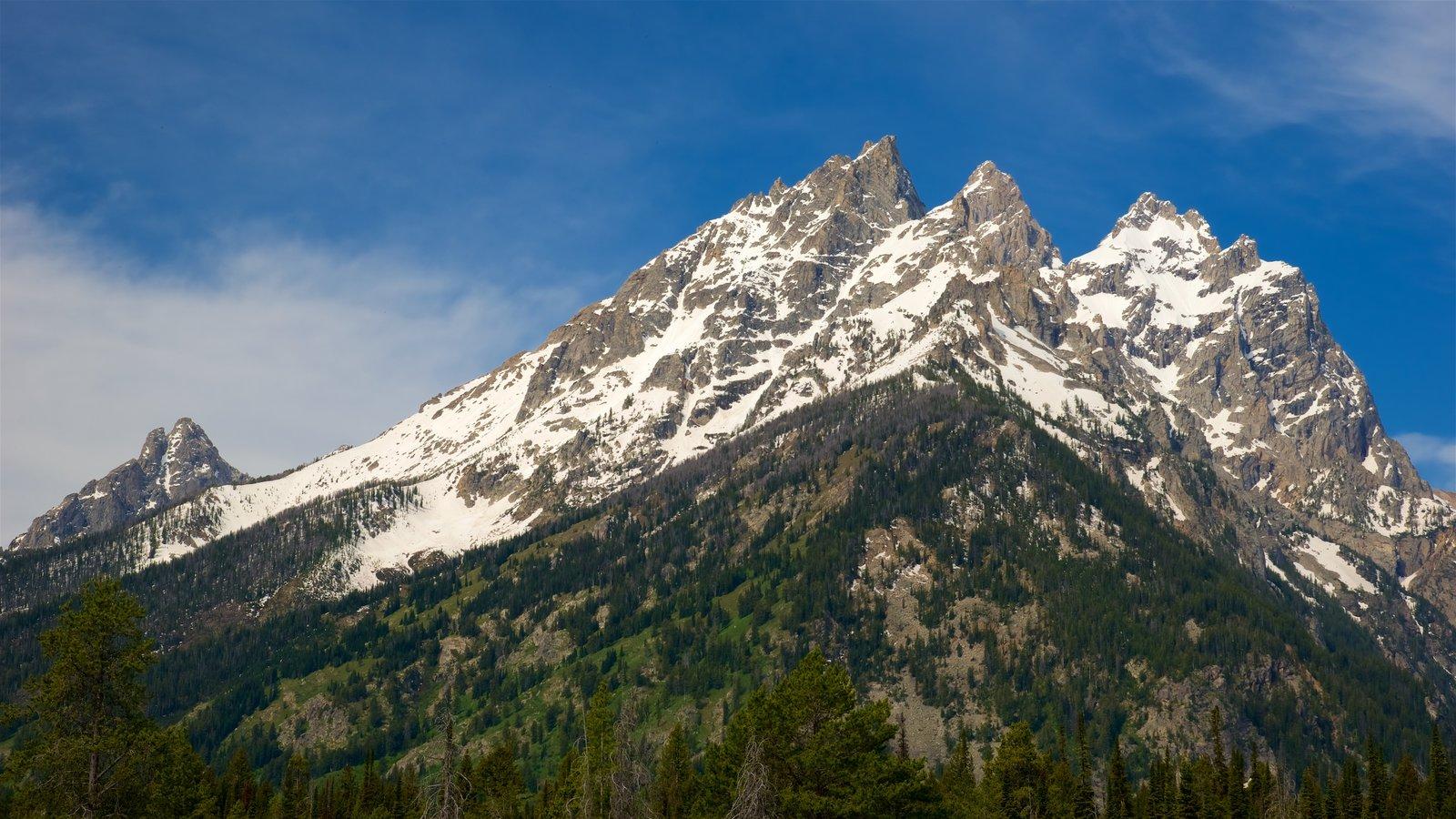 Cañón del lago Cascade mostrando montañas, vistas de paisajes y nieve
