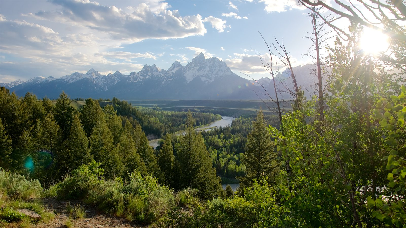 Grand Teton National Park featuring a river or creek, landscape views and tranquil scenes