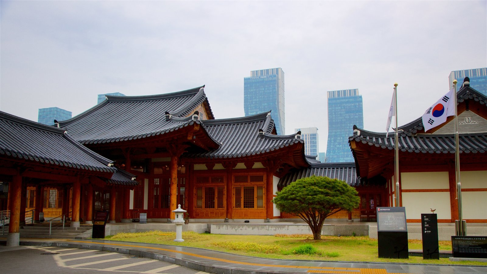 Incheon which includes a city, heritage elements and a high rise building